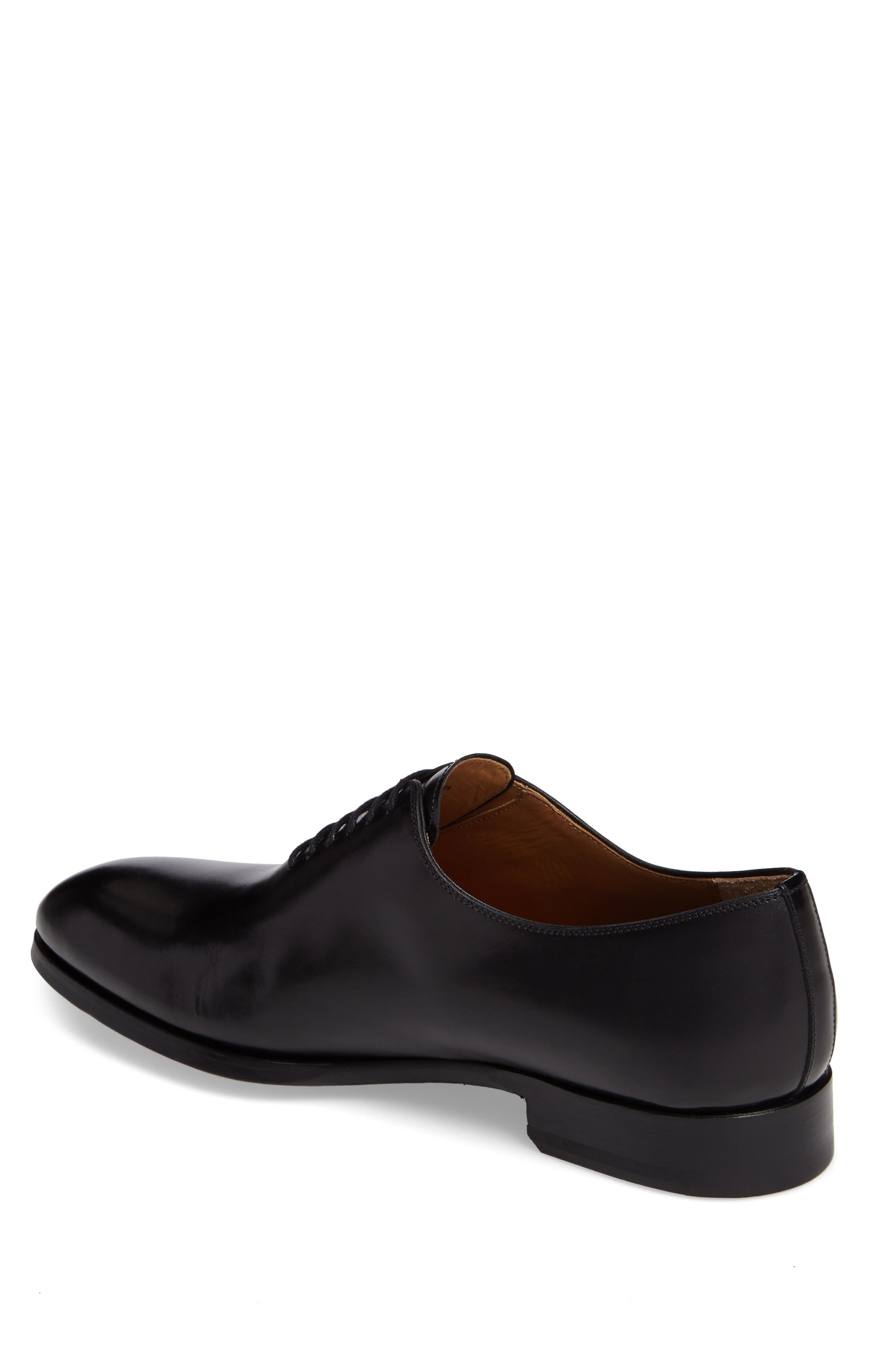 Montay Wholecut Oxford,                             Alternate thumbnail 2, color,                             Black Leather