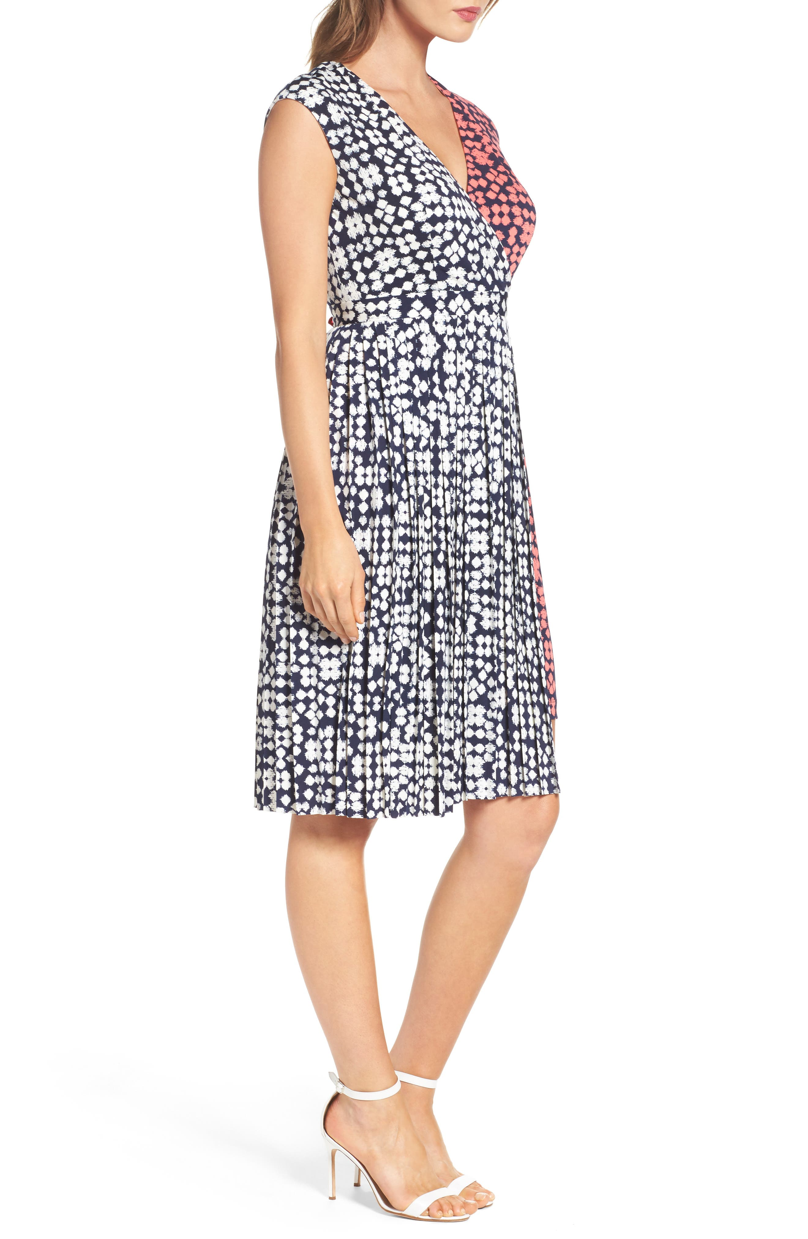 Alternate Image 3  - Maggy London Print Faux Wrap Dress