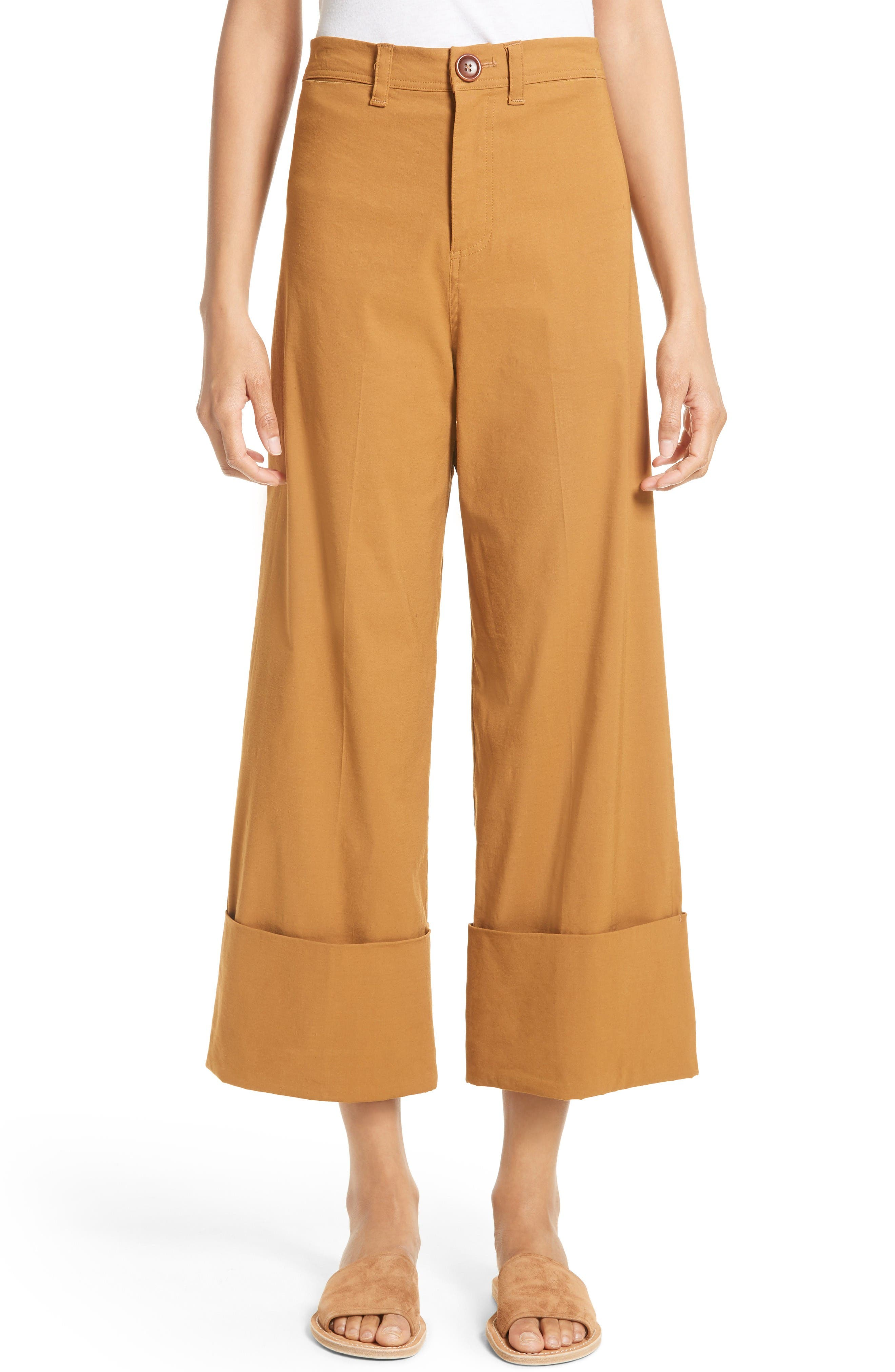 Sea Cuffed Crop Pants