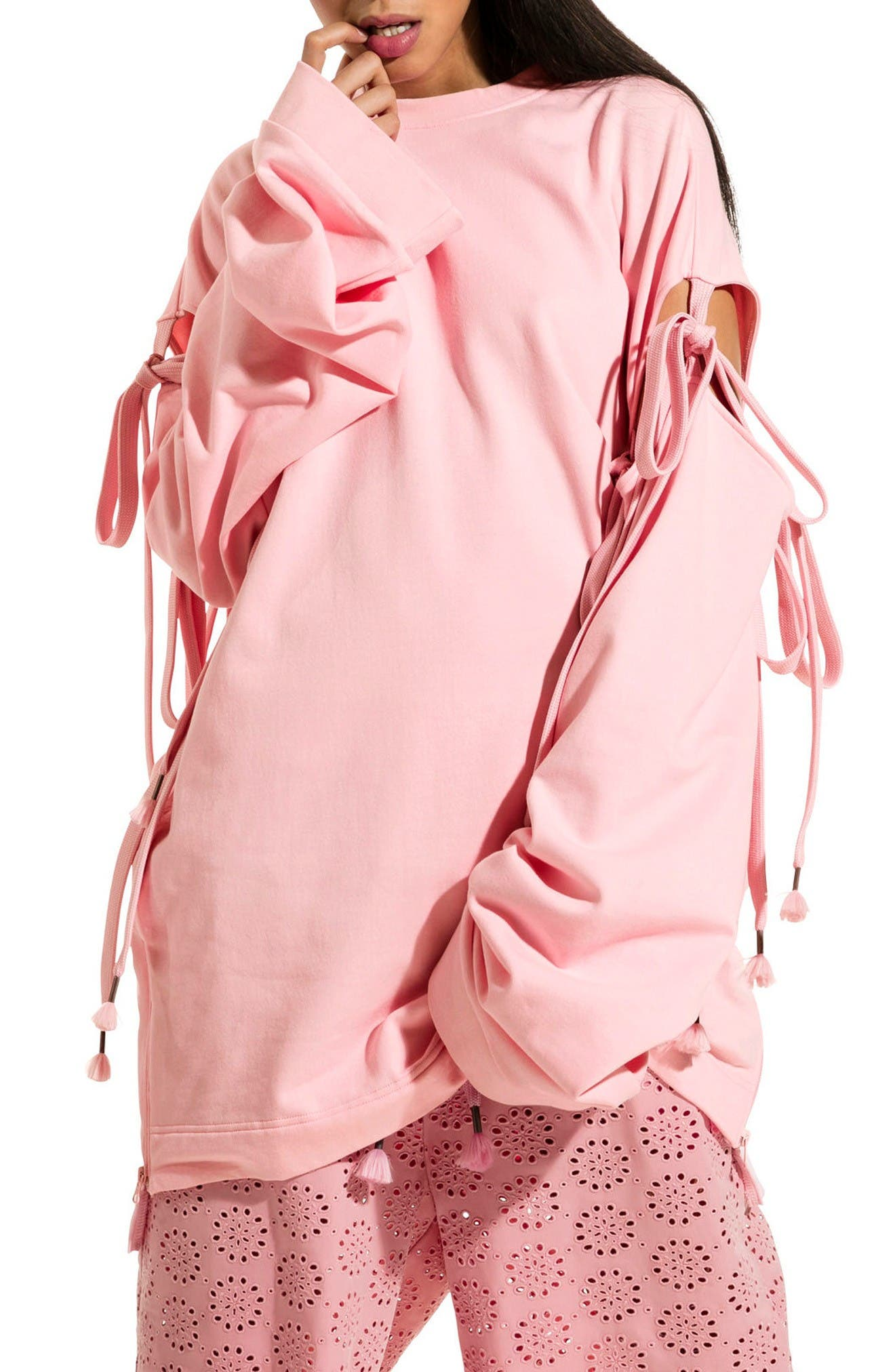 Alternate Image 1 Selected - FENTY PUMA by Rihanna Oversize Convertible Sleeve Sweatshirt