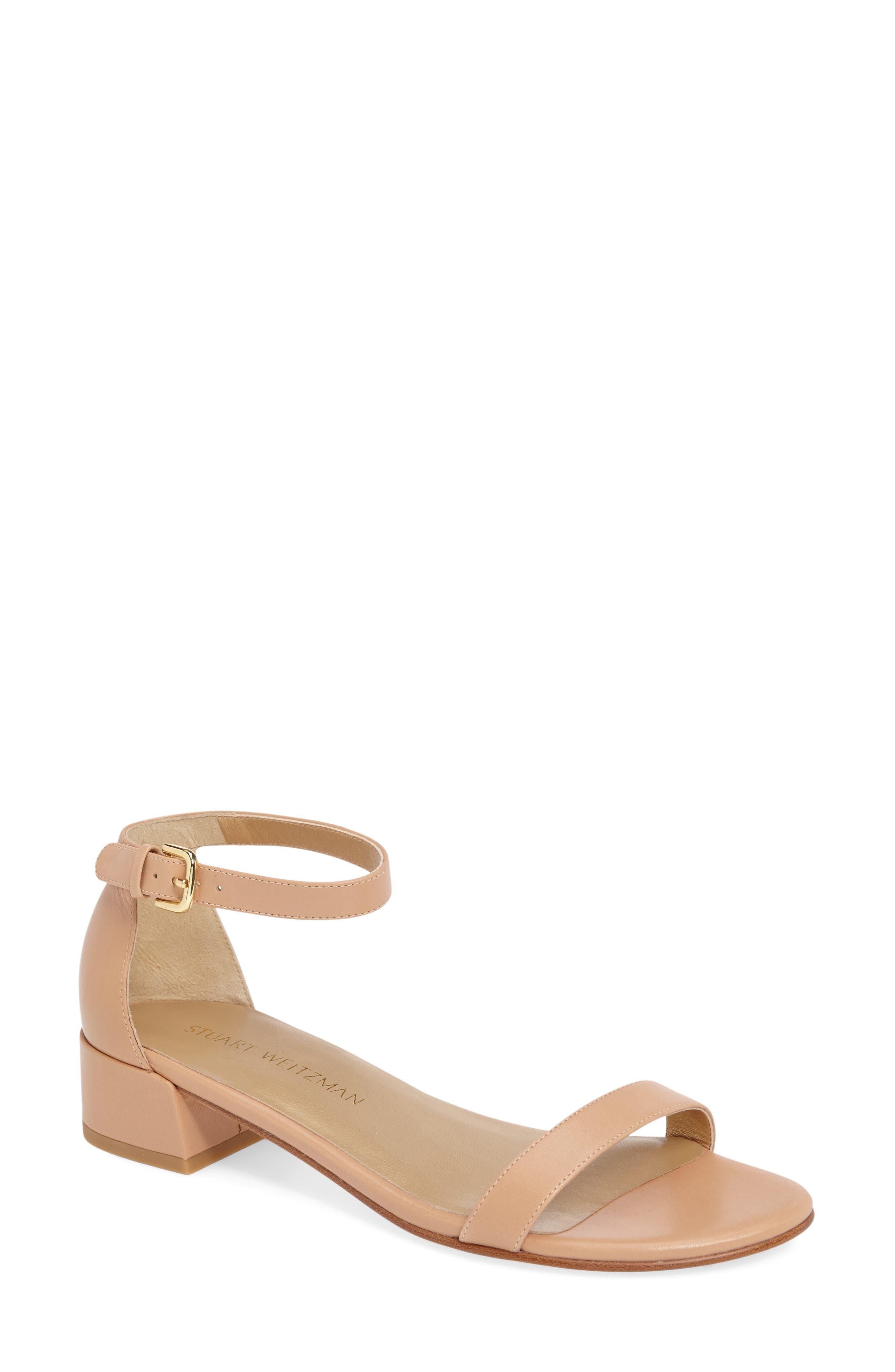 Stuart Weitzman NudistJune Block Heel Sandal (Women)