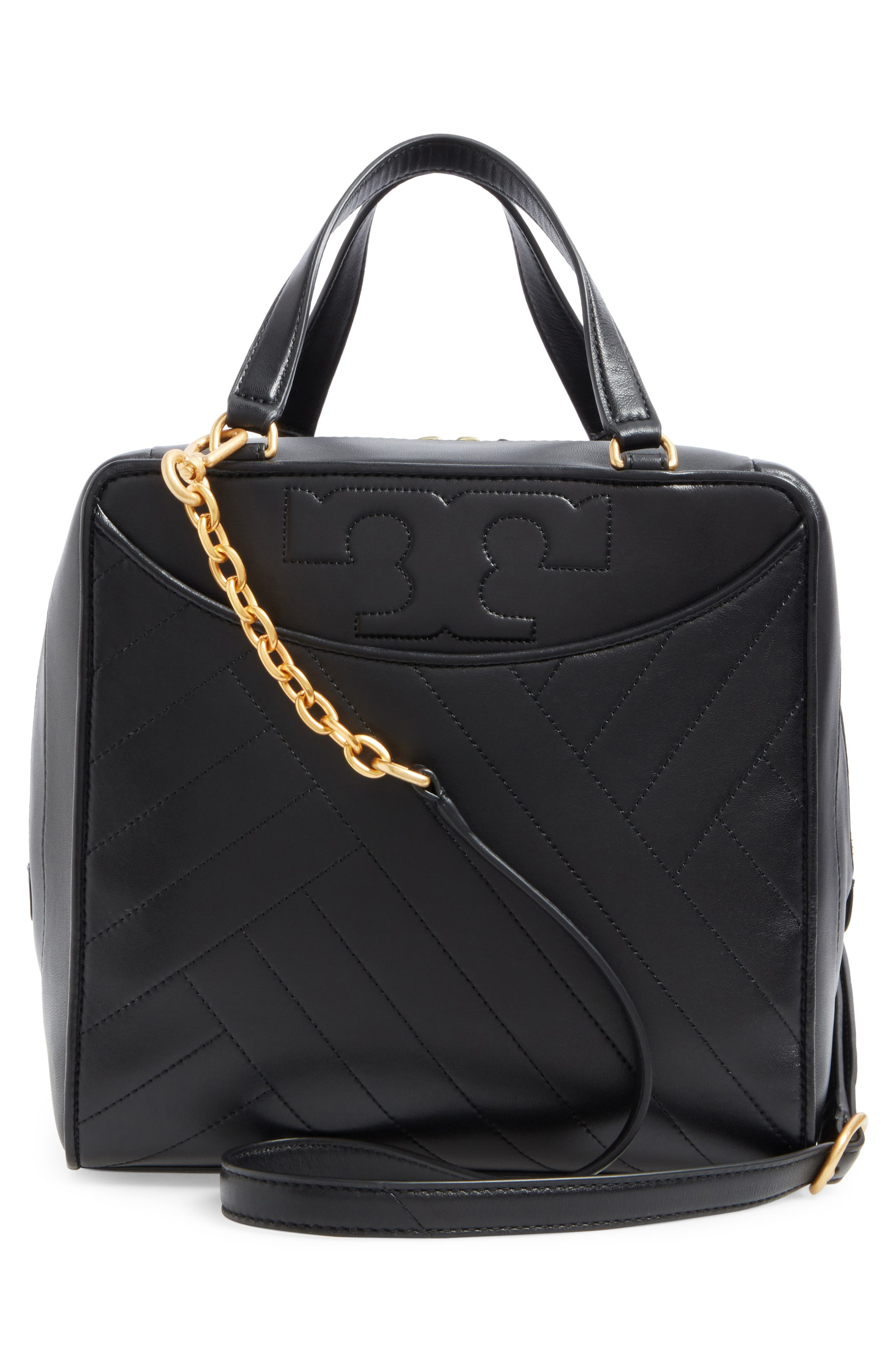 Alternate Image 3  - Tory Burch Chevron Quilted Leather Satchel