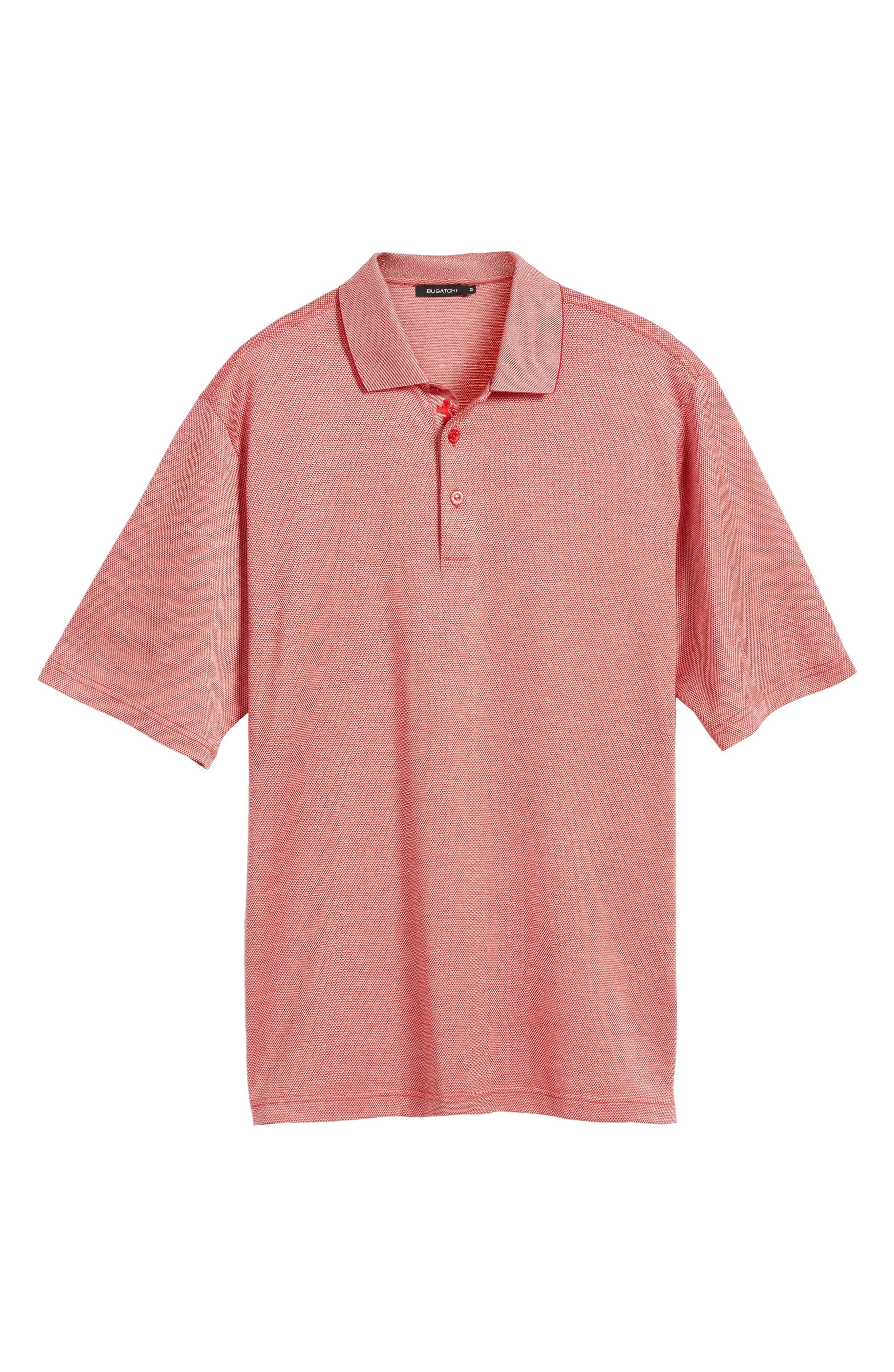 Two-Tone Polo,                             Alternate thumbnail 6, color,                             Coral