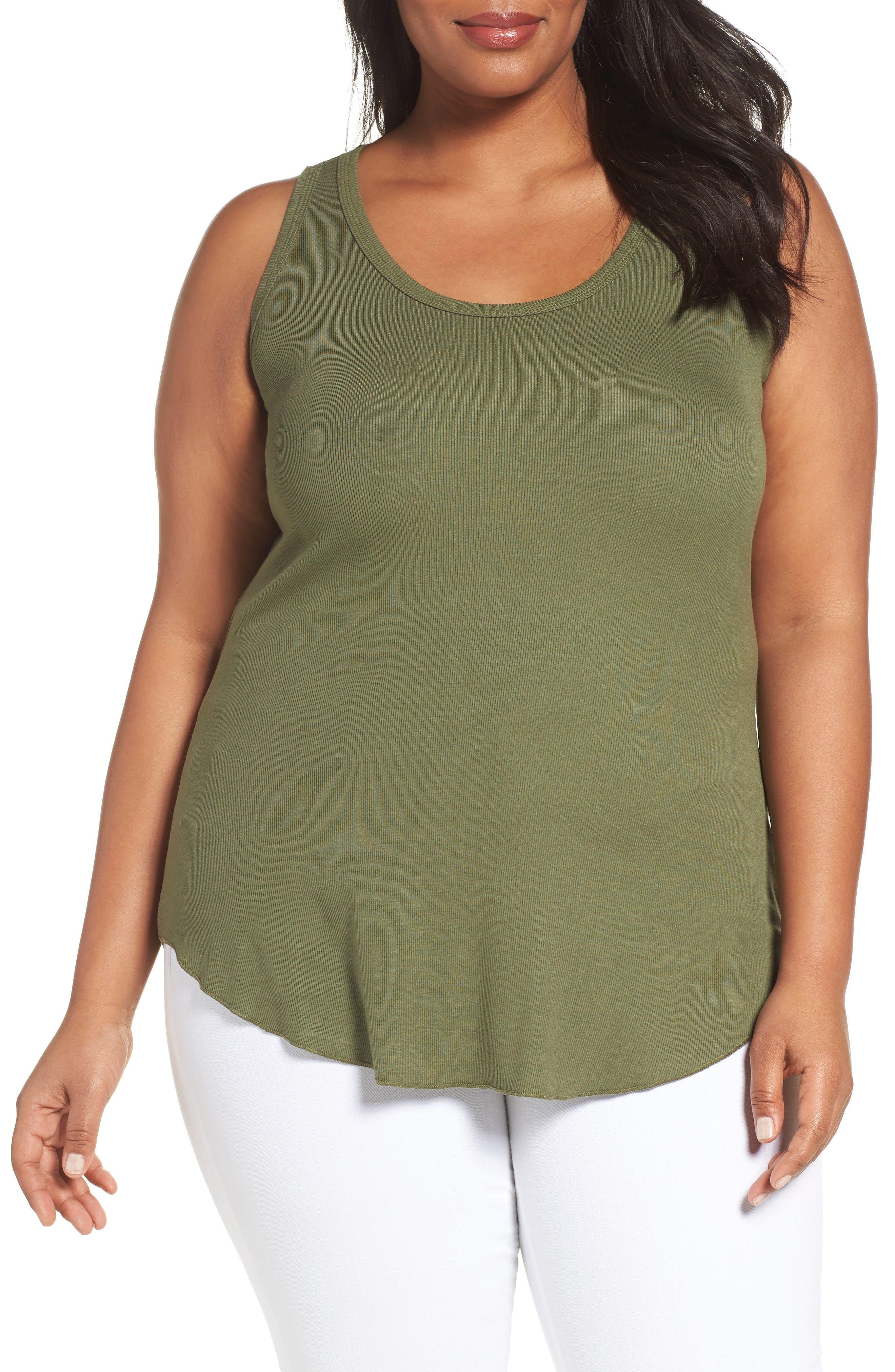Sejour Rib Knit Tank (Plus Size)