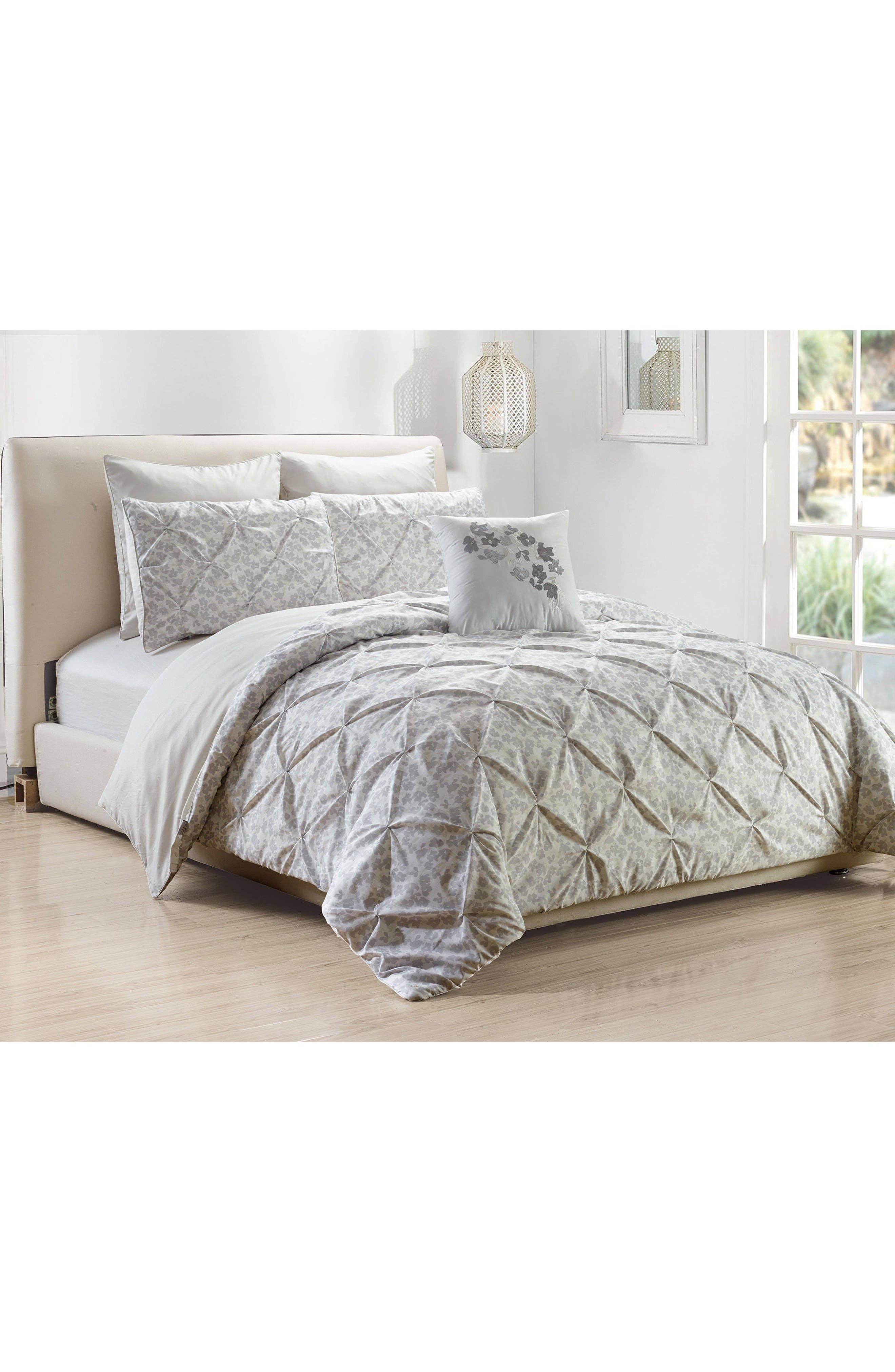 Adith 6-Piece King Comforter Set,                             Alternate thumbnail 3, color,                             Grey