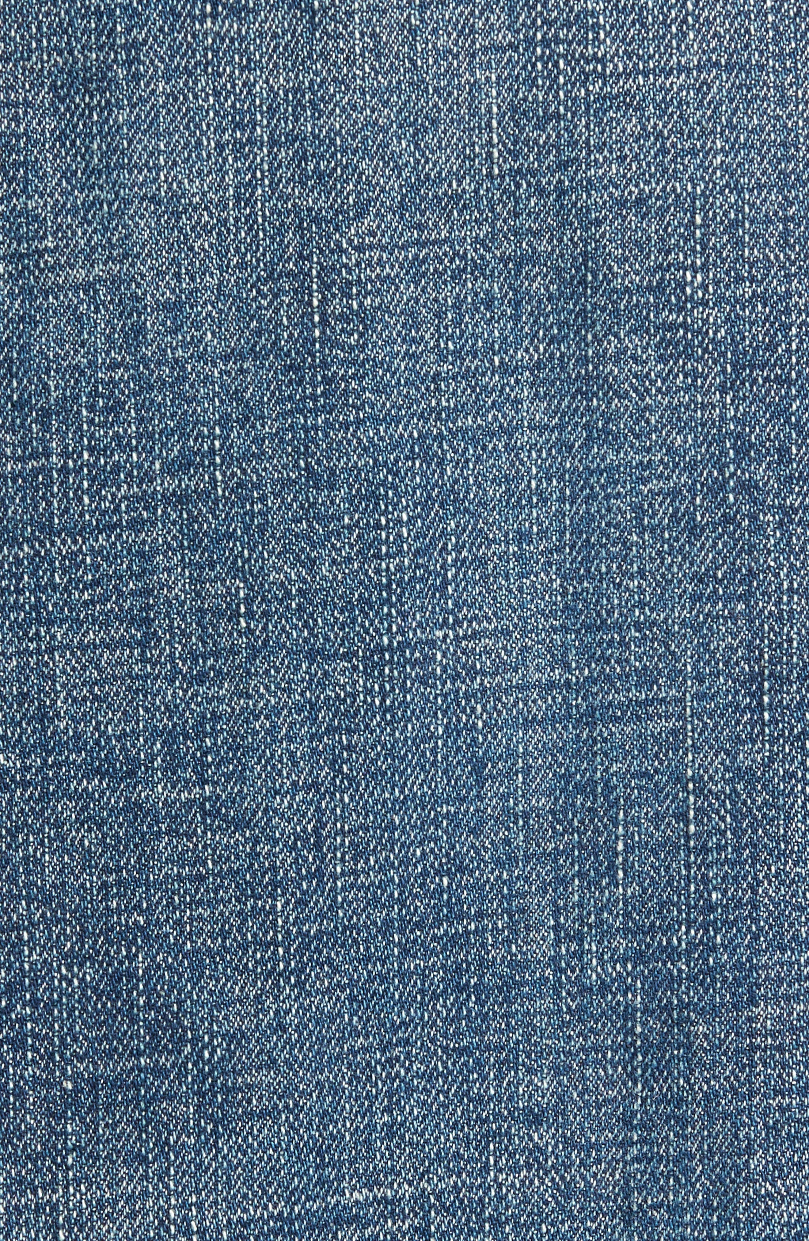 Clayton Distressed Selvedge Denim Jacket,                             Alternate thumbnail 5, color,                             Denim Wash
