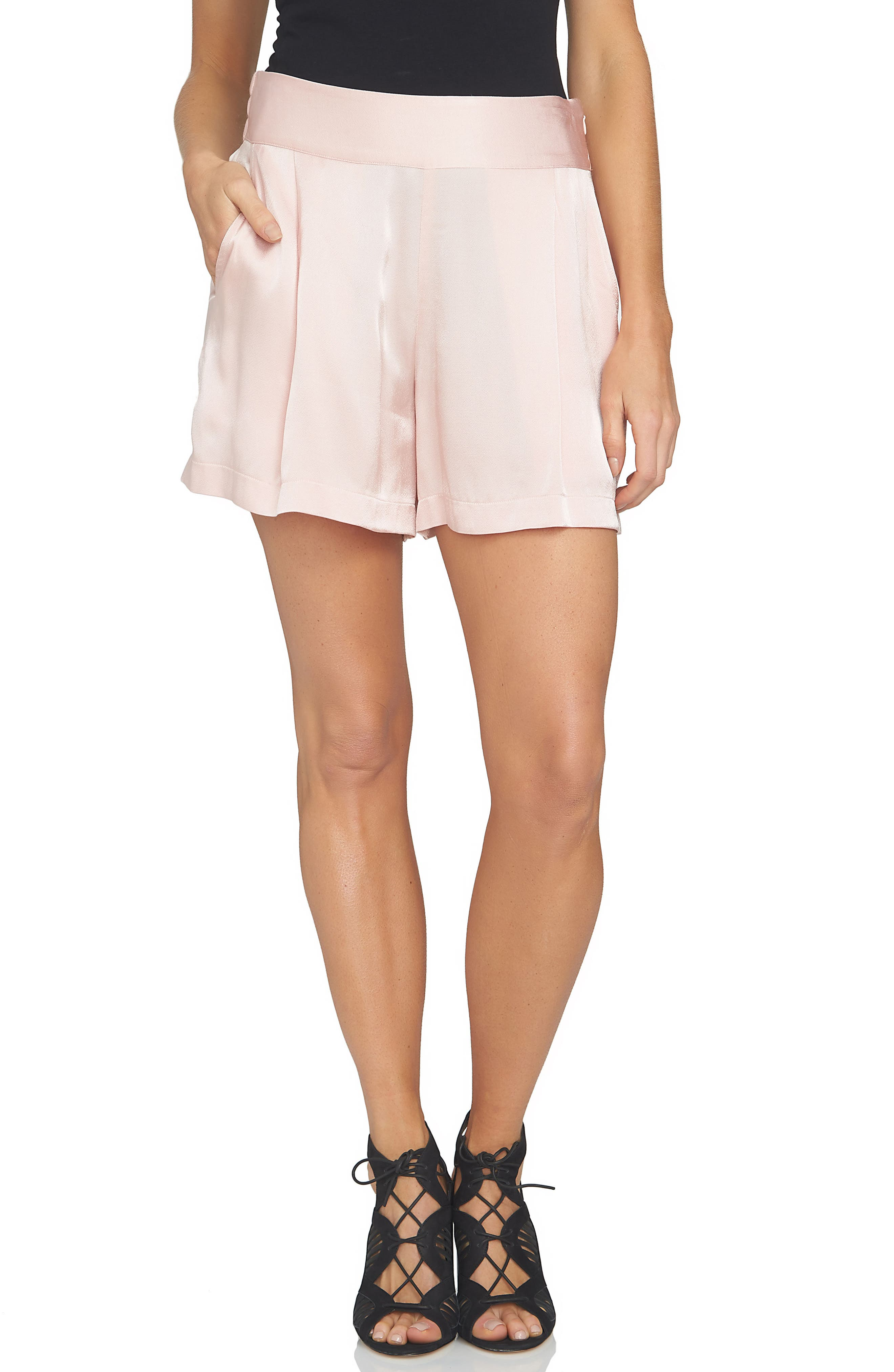 Alternate Image 1 Selected - 1.STATE High Waist Drapey Shorts