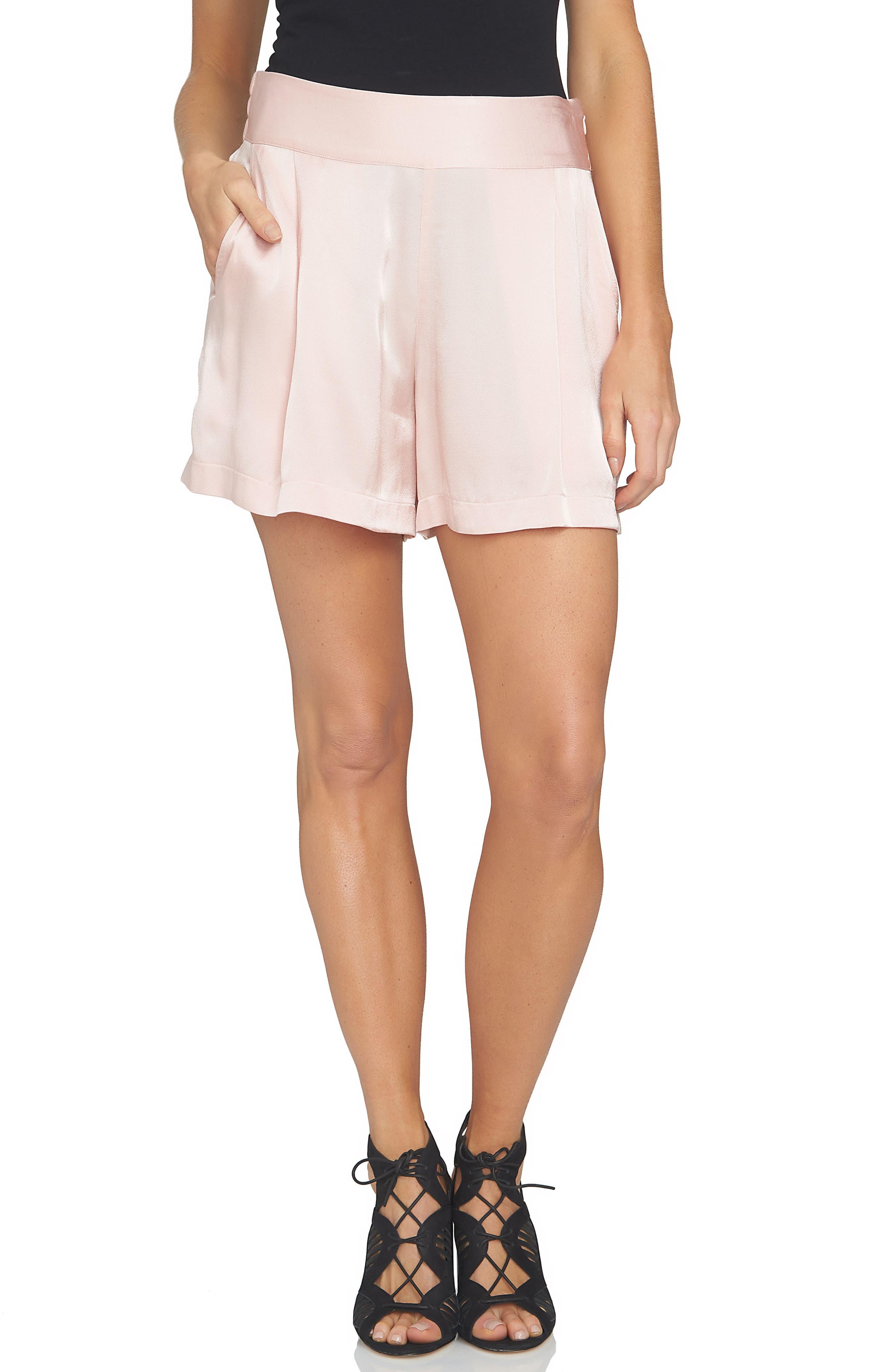 Main Image - 1.STATE High Waist Drapey Shorts