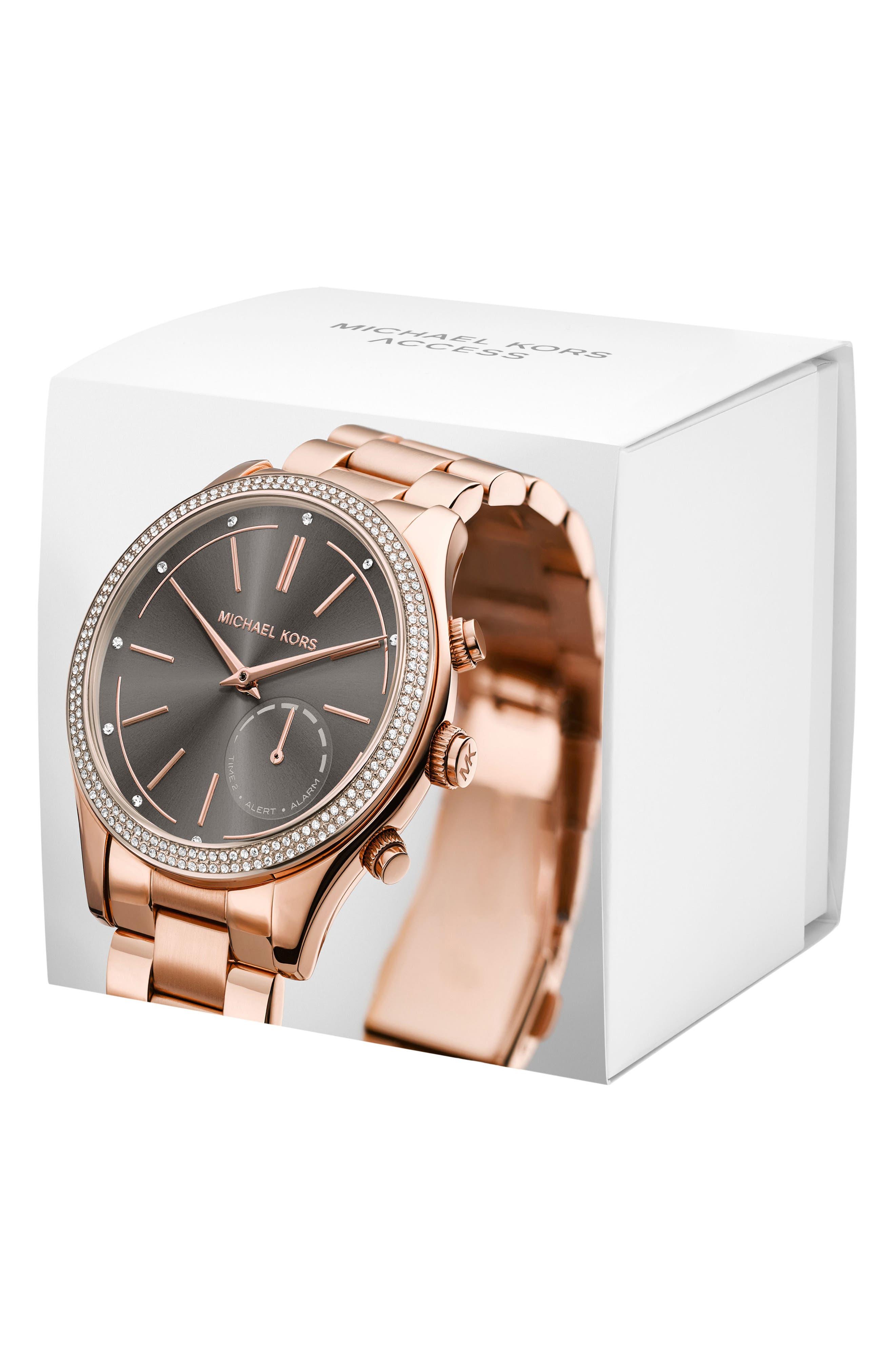 Access Smart Bracelet Watch, 42mm,                             Alternate thumbnail 4, color,                             Rose Gold/ Grey/ Rose Gold