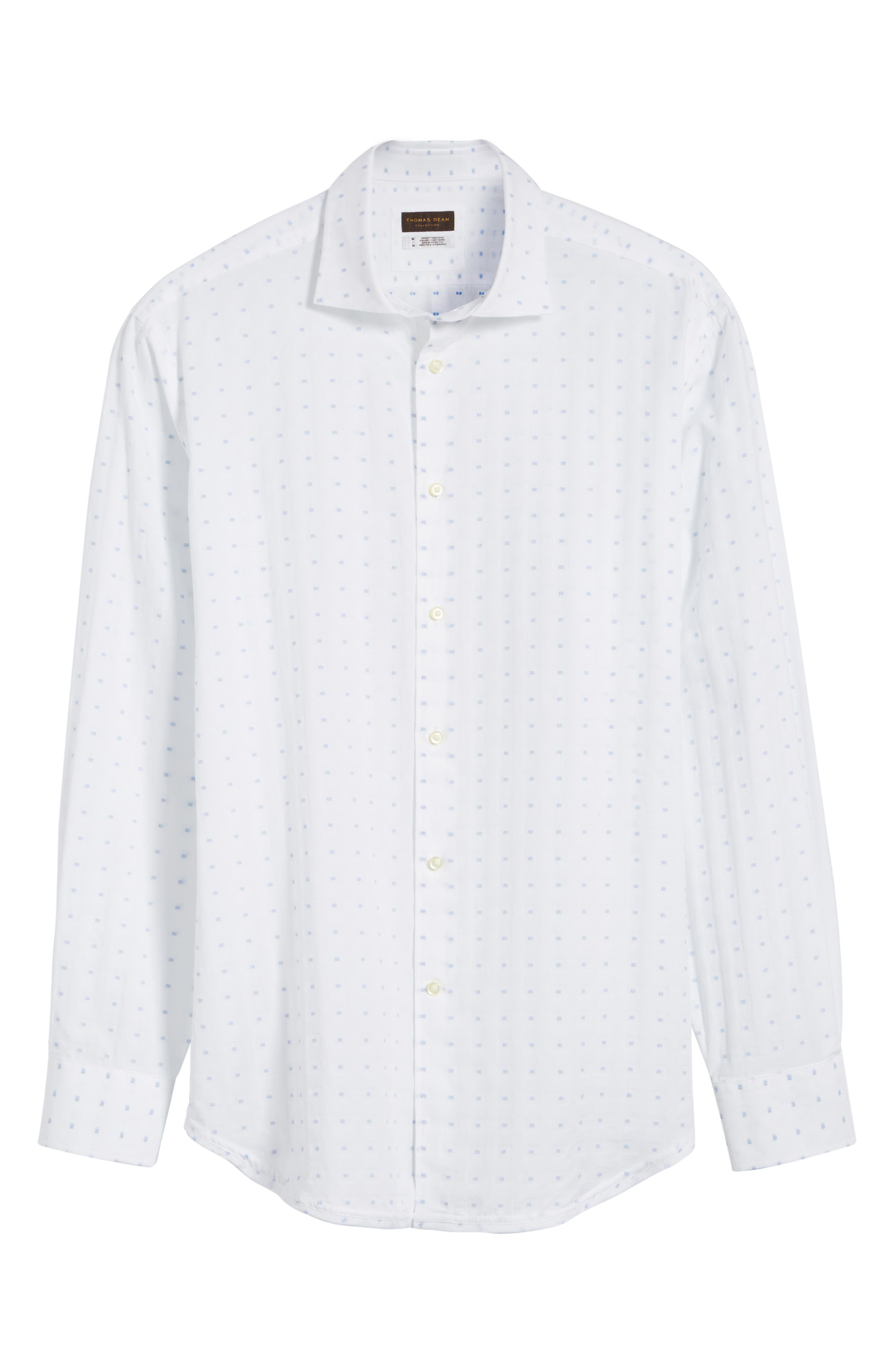 Alternate Image 6  - Thomas Dean Classic Fit Fil Coupé Sport Shirt