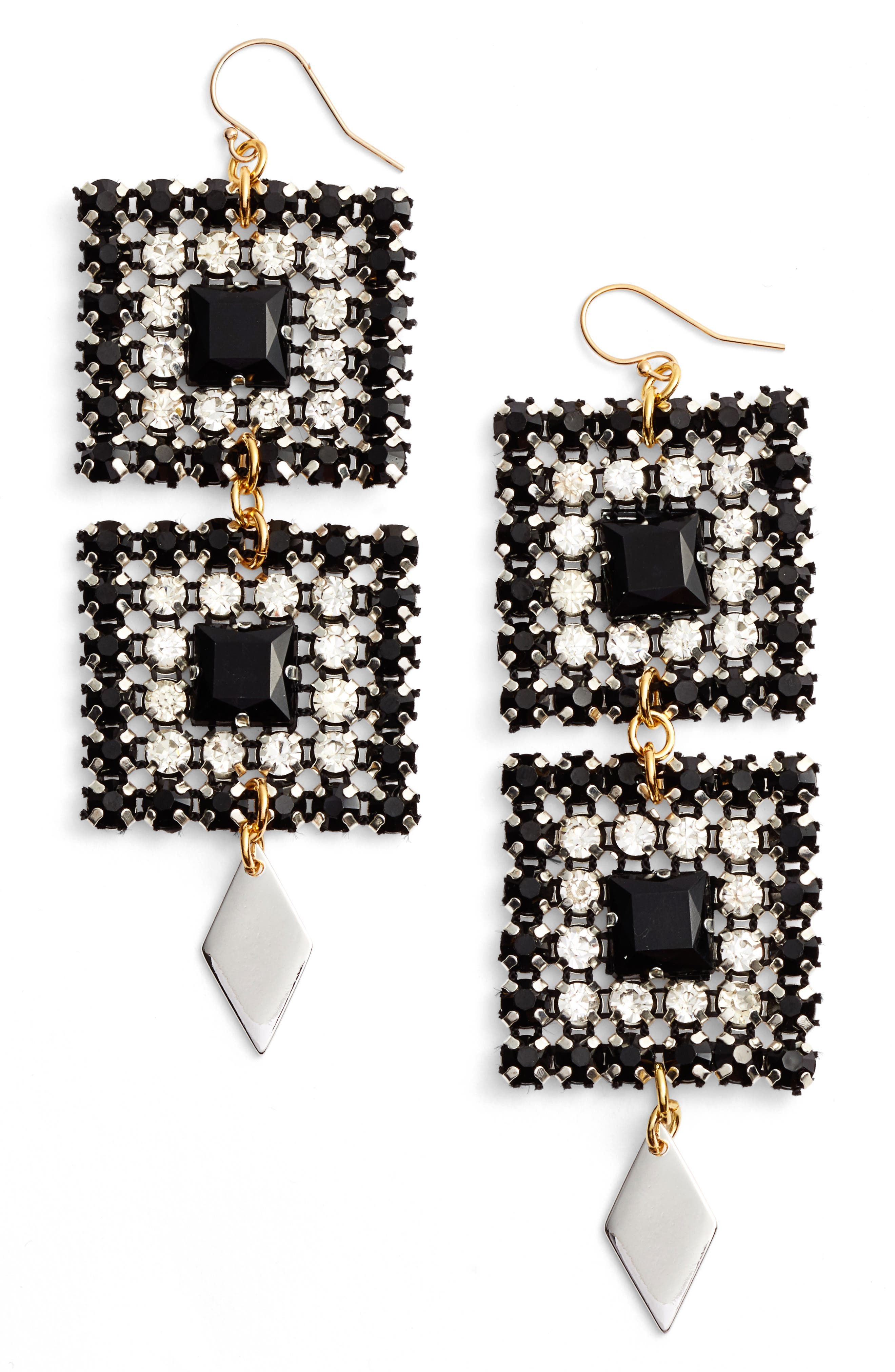 VANESSA MOONEY Ace of Spades Drop Earrings