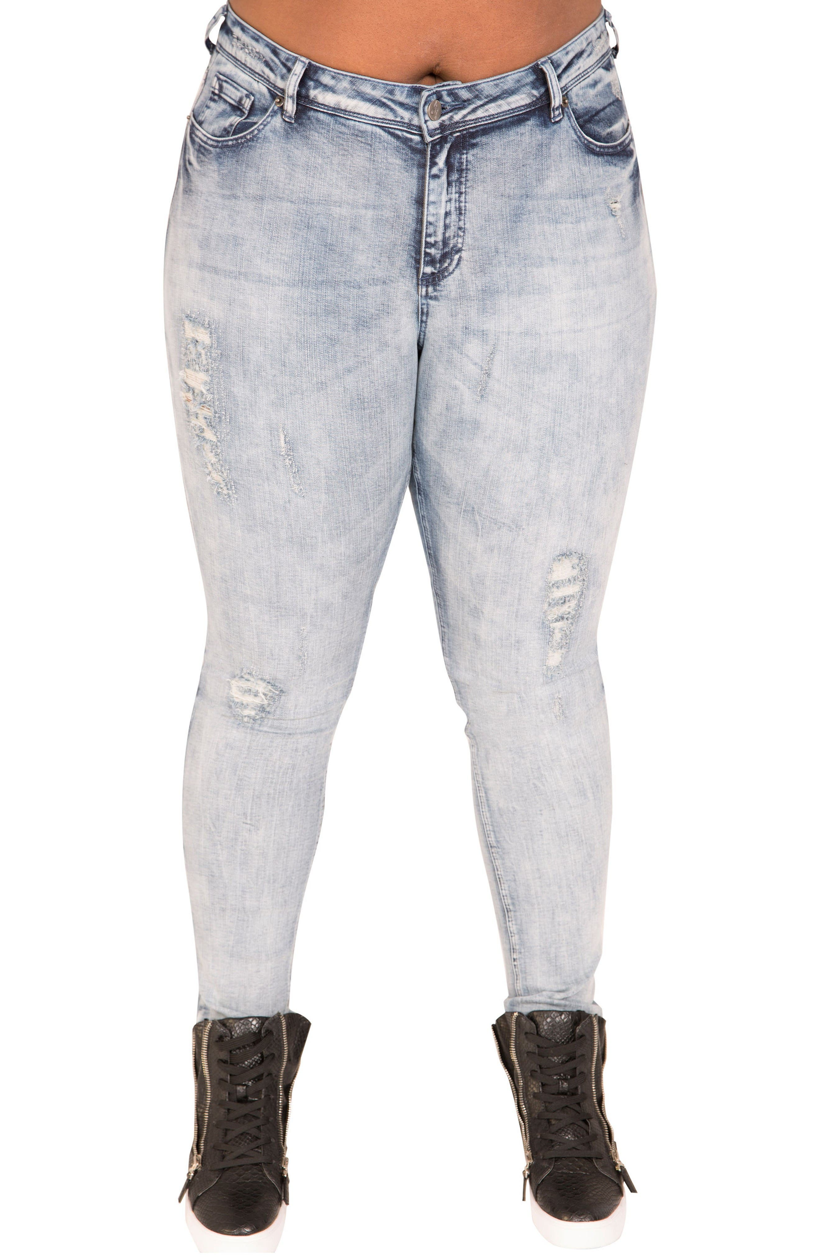 Poetic Justice Madison Mid Rise Skinny Jeans