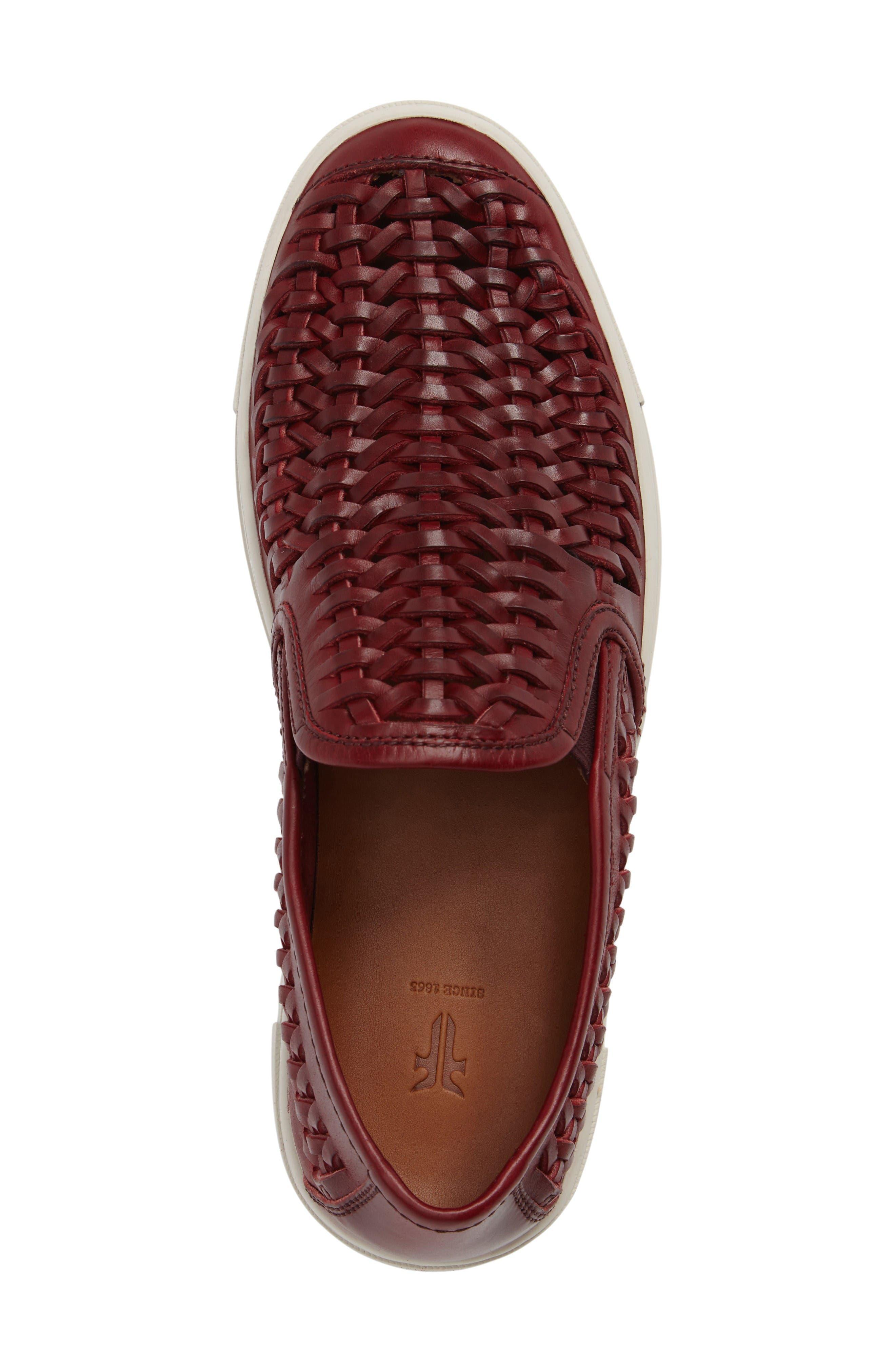 Gabe Slip-On,                             Alternate thumbnail 5, color,                             Burgundy Leather