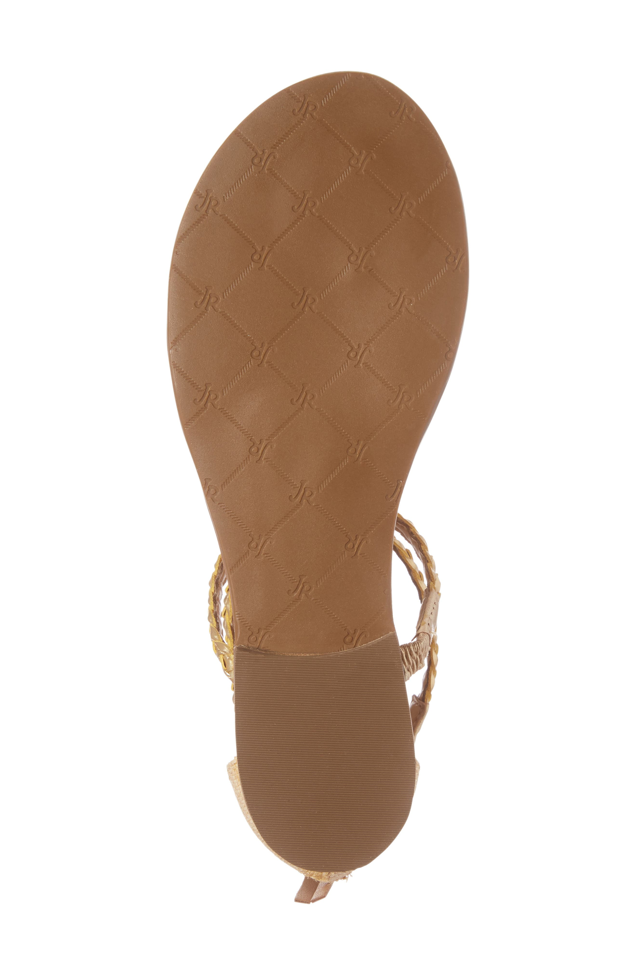 Jenna Sandal,                             Alternate thumbnail 6, color,                             Natural/ Gold Fabric