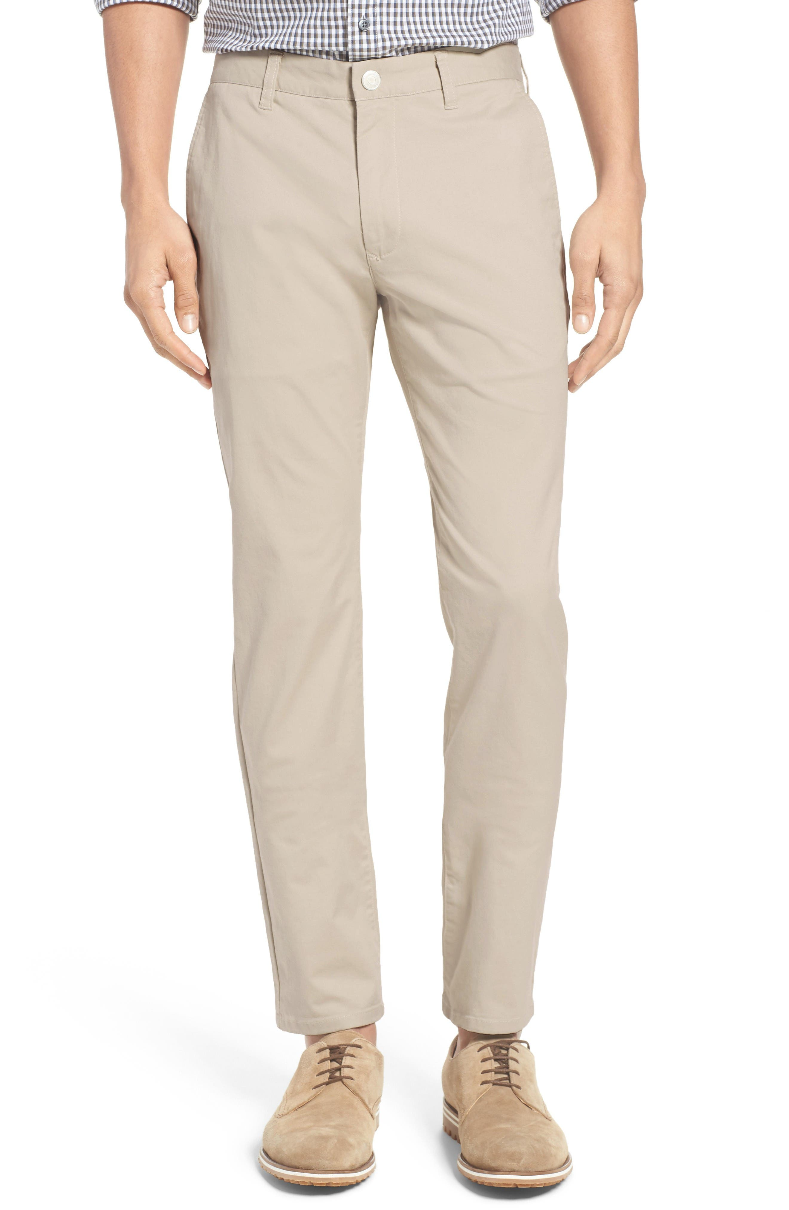 Tailored Fit Washed Stretch Cotton Chinos,                         Main,                         color, Millstones
