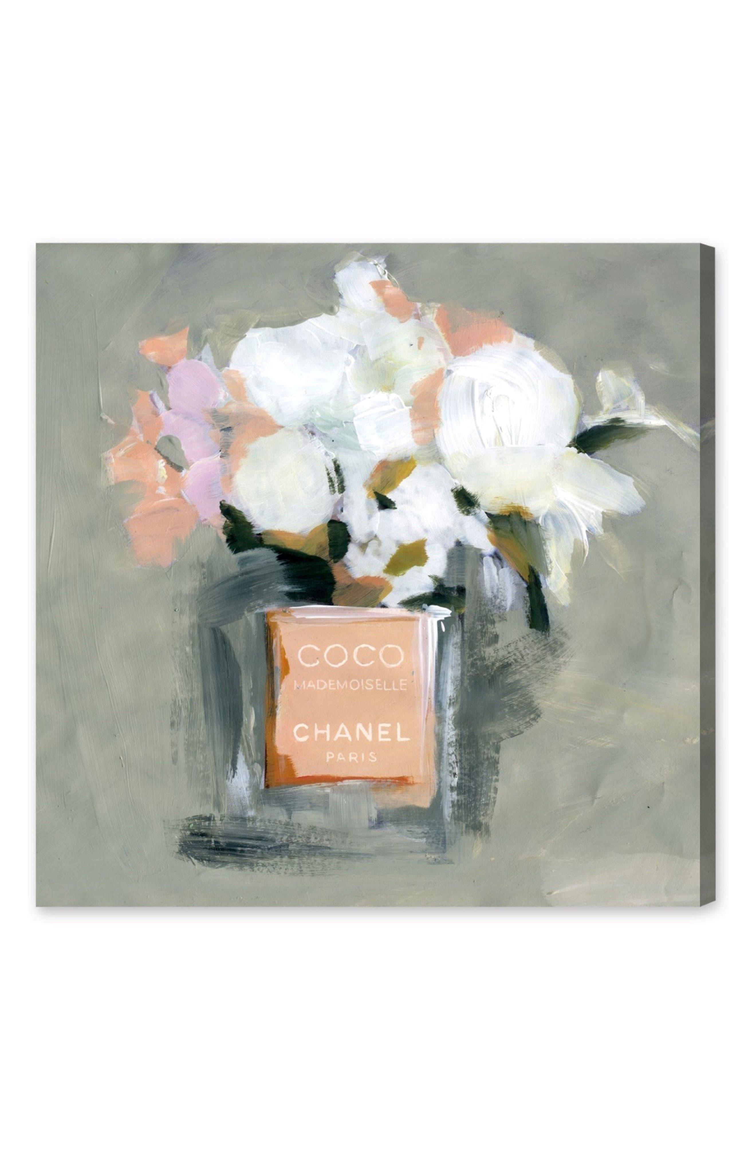 L'Eau de Rose Canvas Wall Art,                         Main,                         color, Grey