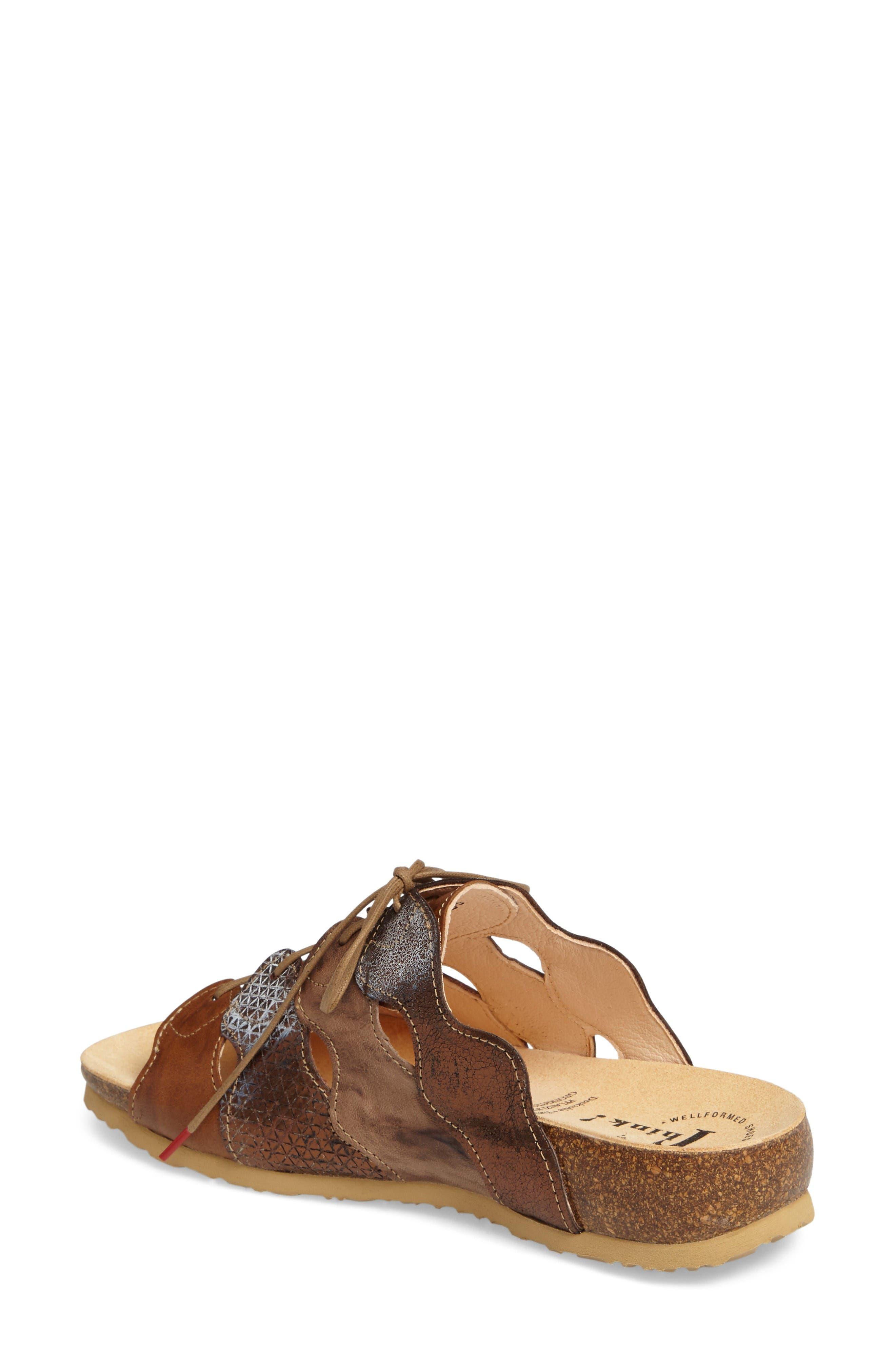 Julia Sandal,                             Alternate thumbnail 2, color,                             Lion Brown Leather
