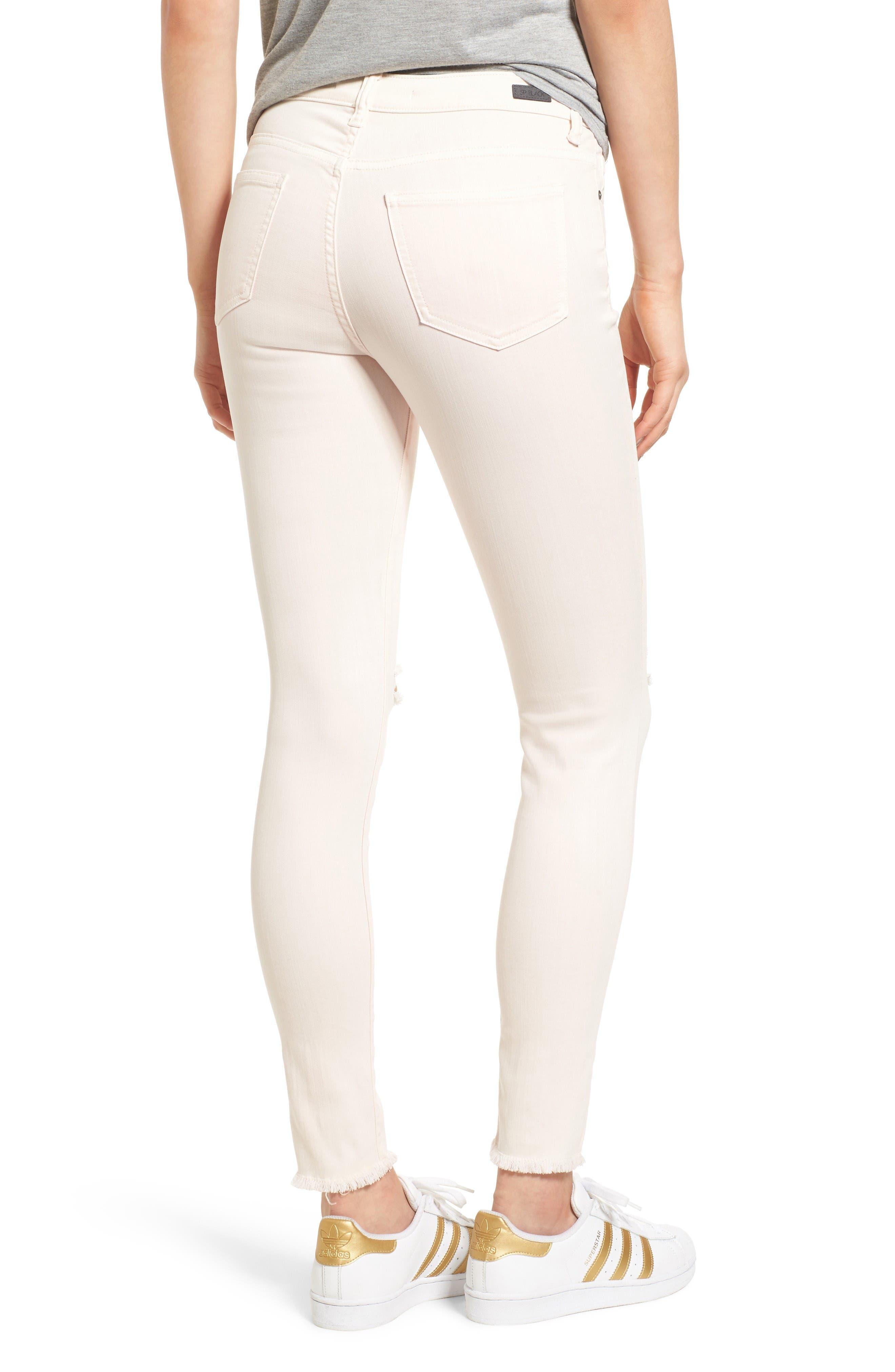 Ripped Skinny Jeans,                             Alternate thumbnail 2, color,                             Blush