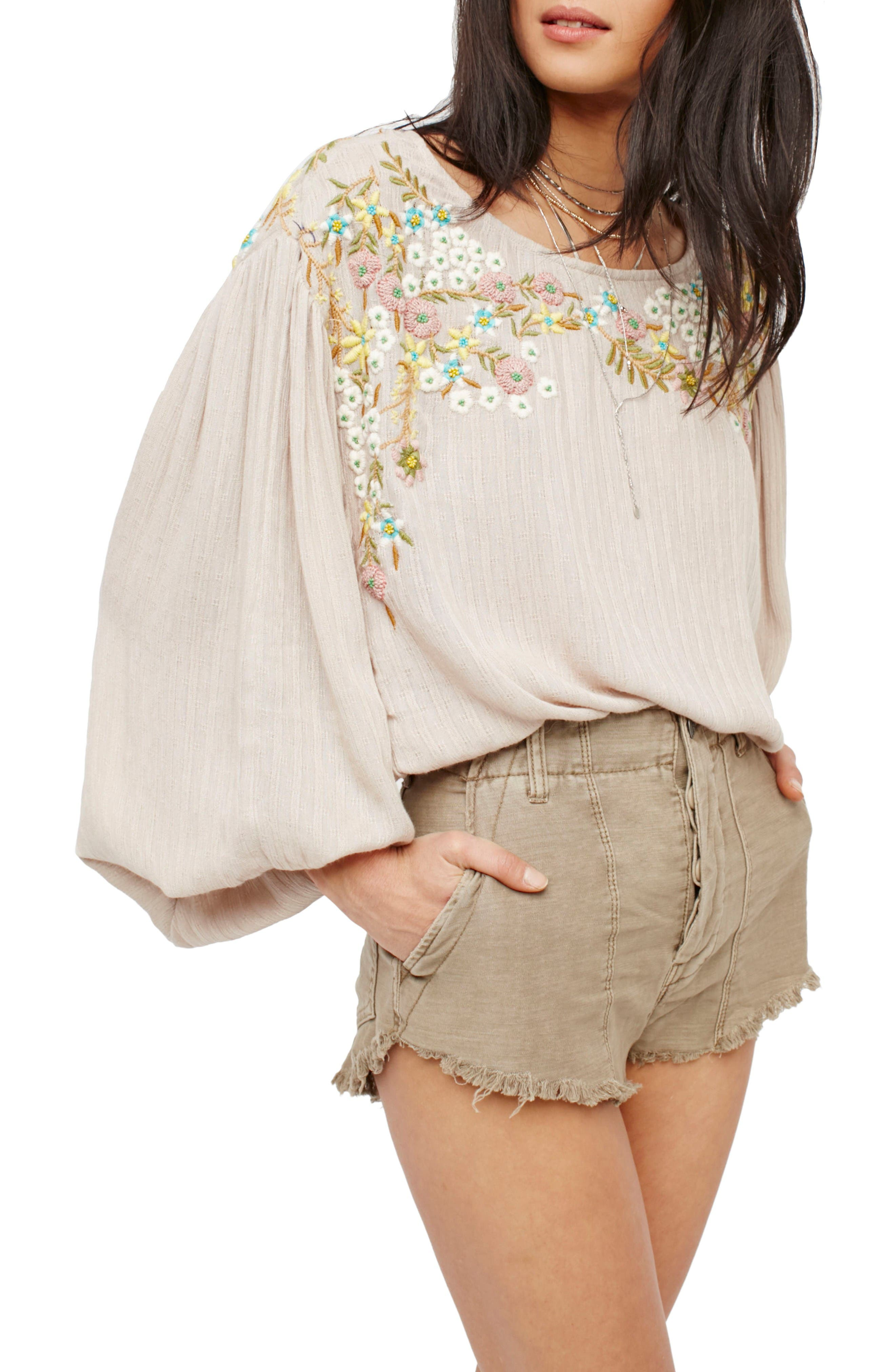 Alternate Image 1 Selected - Free People Standoff Cutoff Shorts
