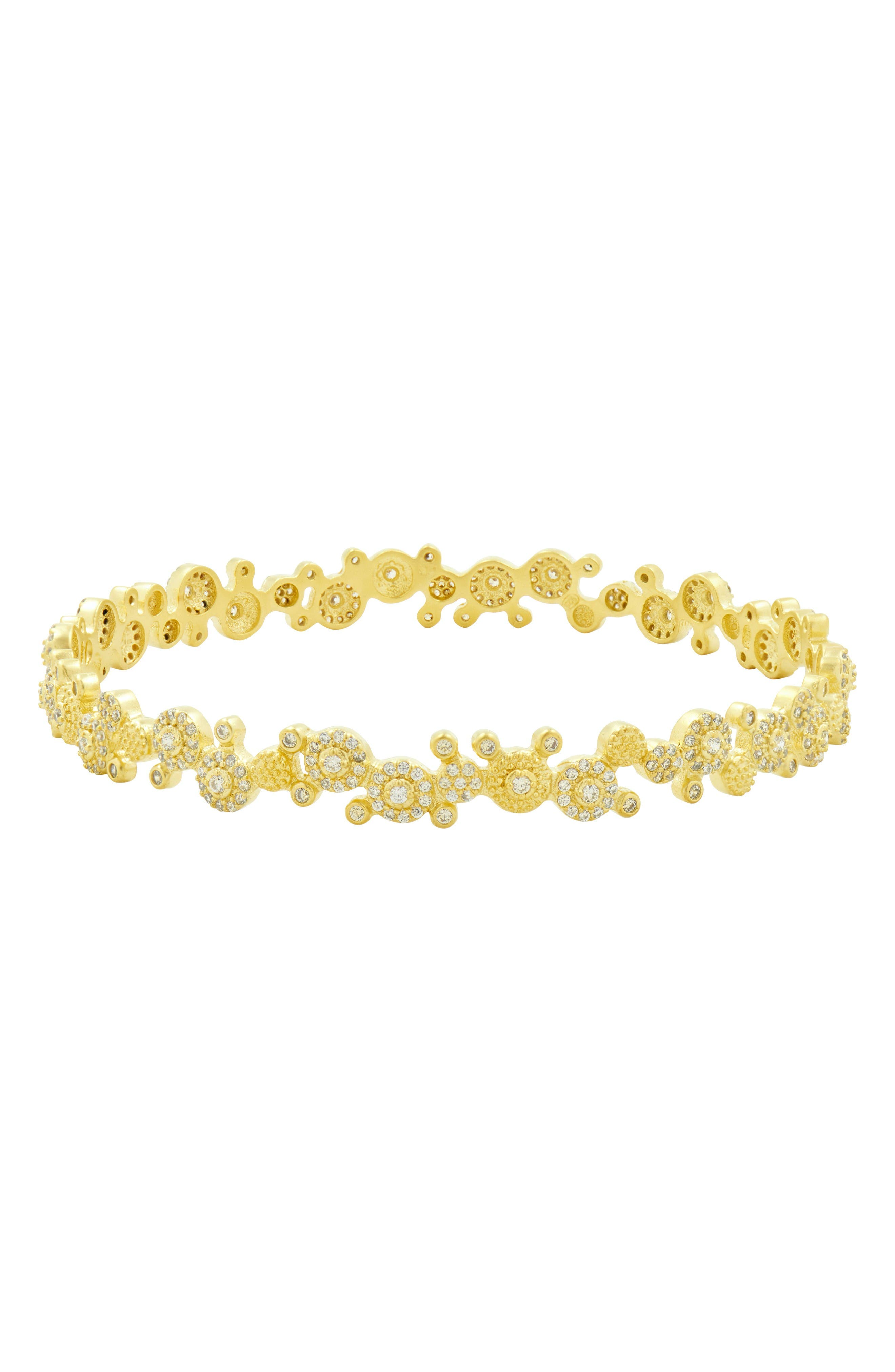 Amazonian Allure Pavé Bangle,                             Main thumbnail 1, color,                             Gold
