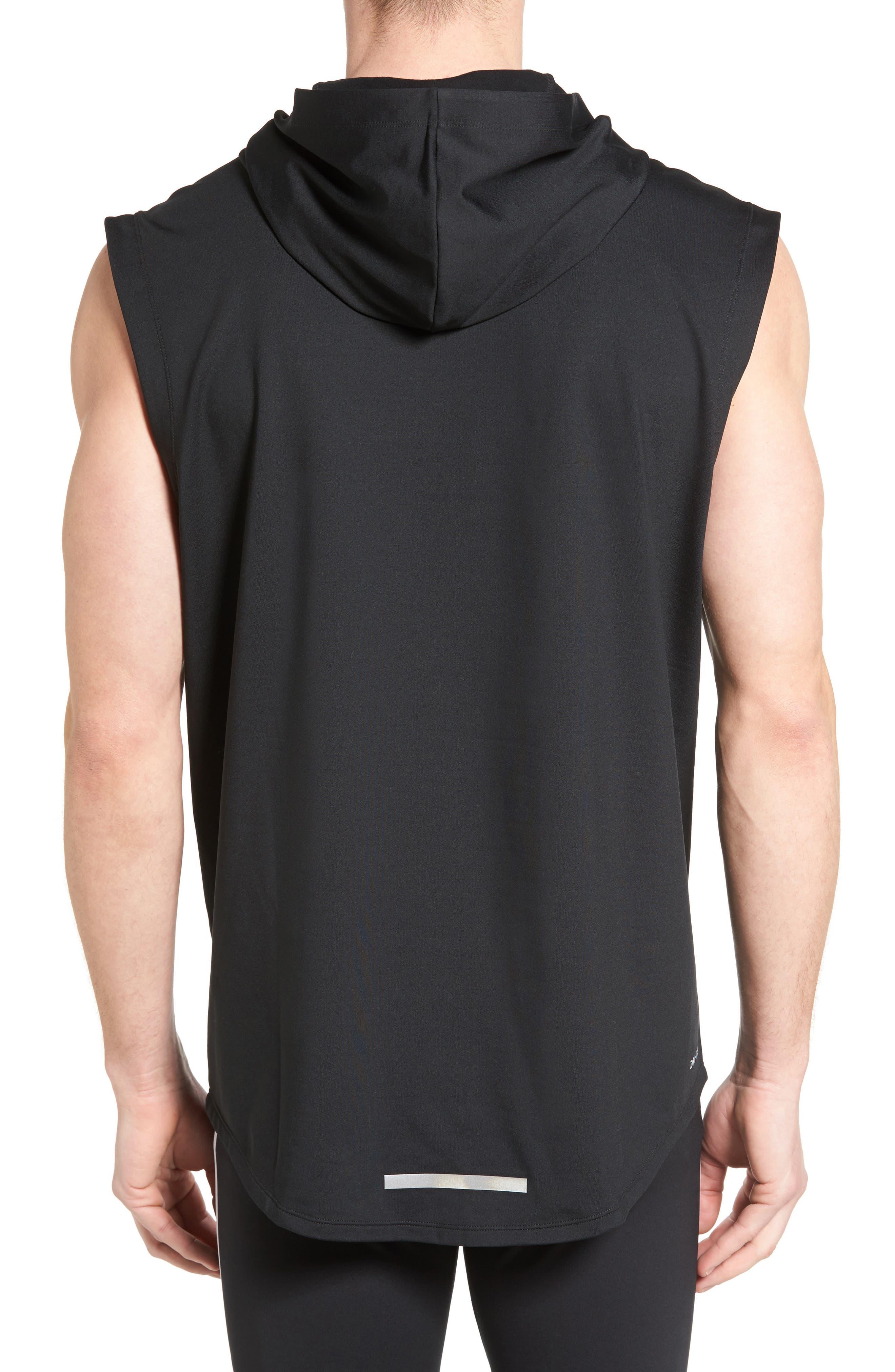 Alternate Image 2  - Nike Sleeveless Running Hoodie