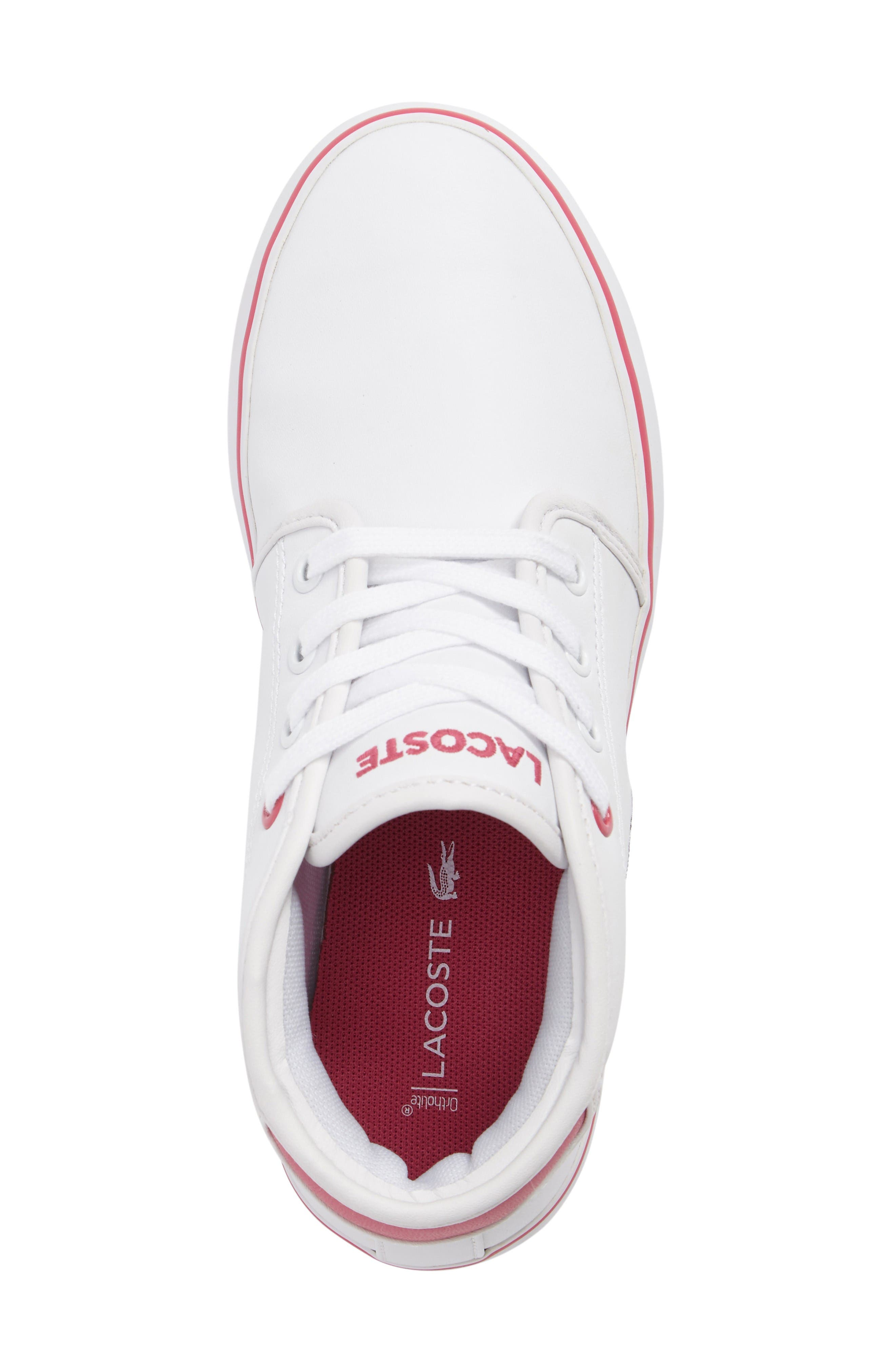 Ampthill Mid-Top Sneaker,                             Alternate thumbnail 5, color,                             White/ Pink
