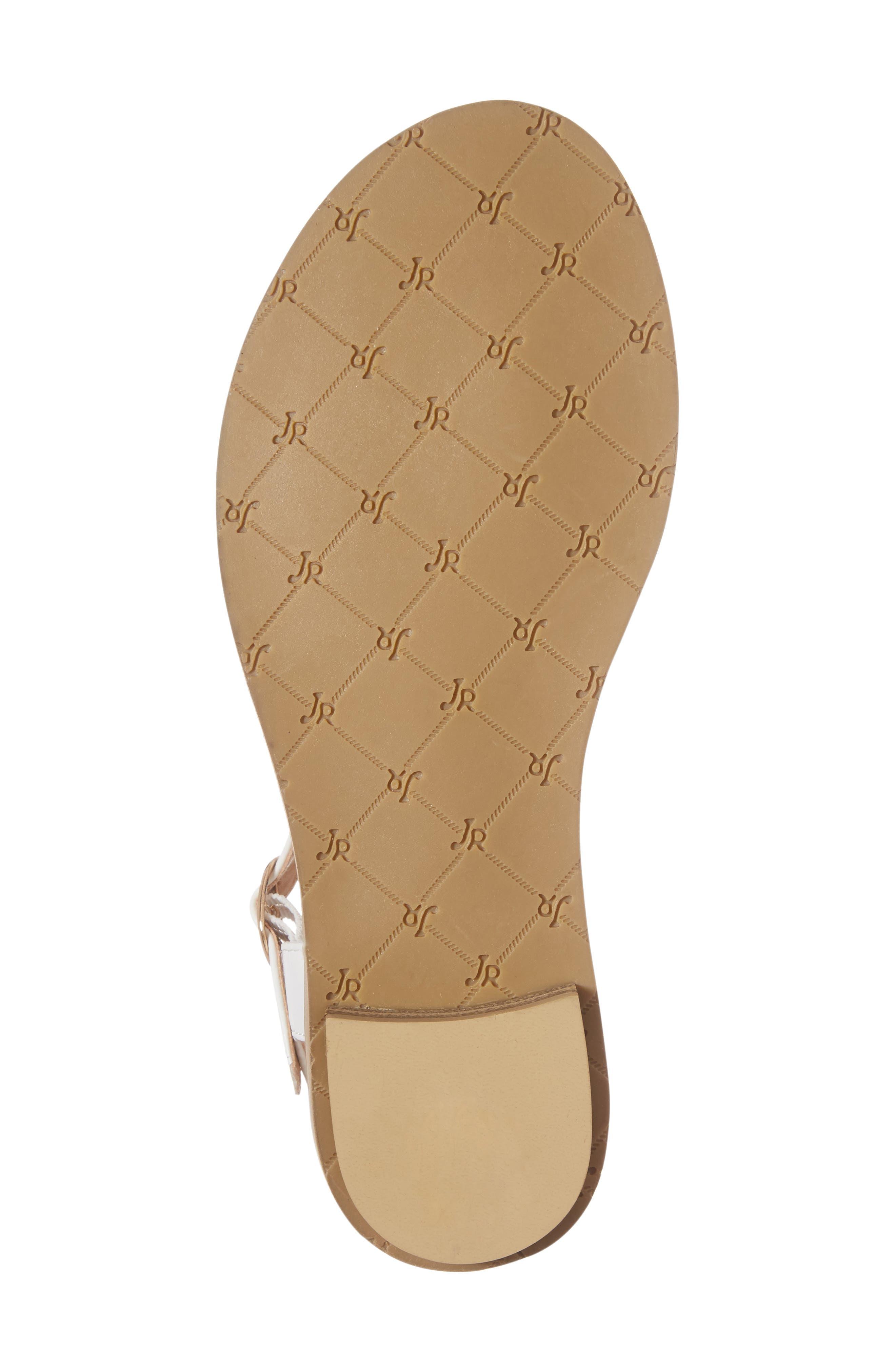 Kamri T-Strap Sandal,                             Alternate thumbnail 6, color,                             White Leather