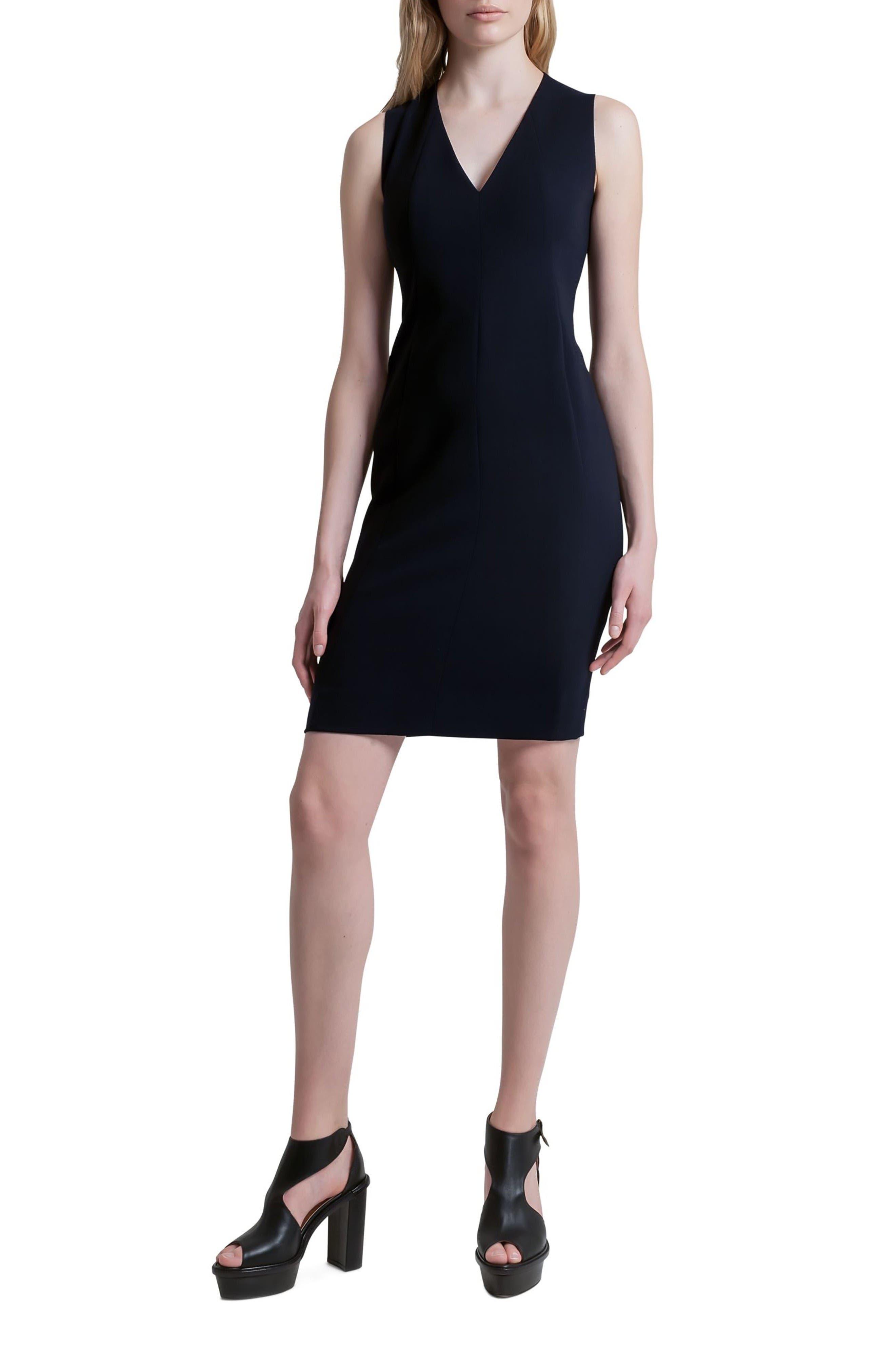 Akris Classic V-Neck Dress