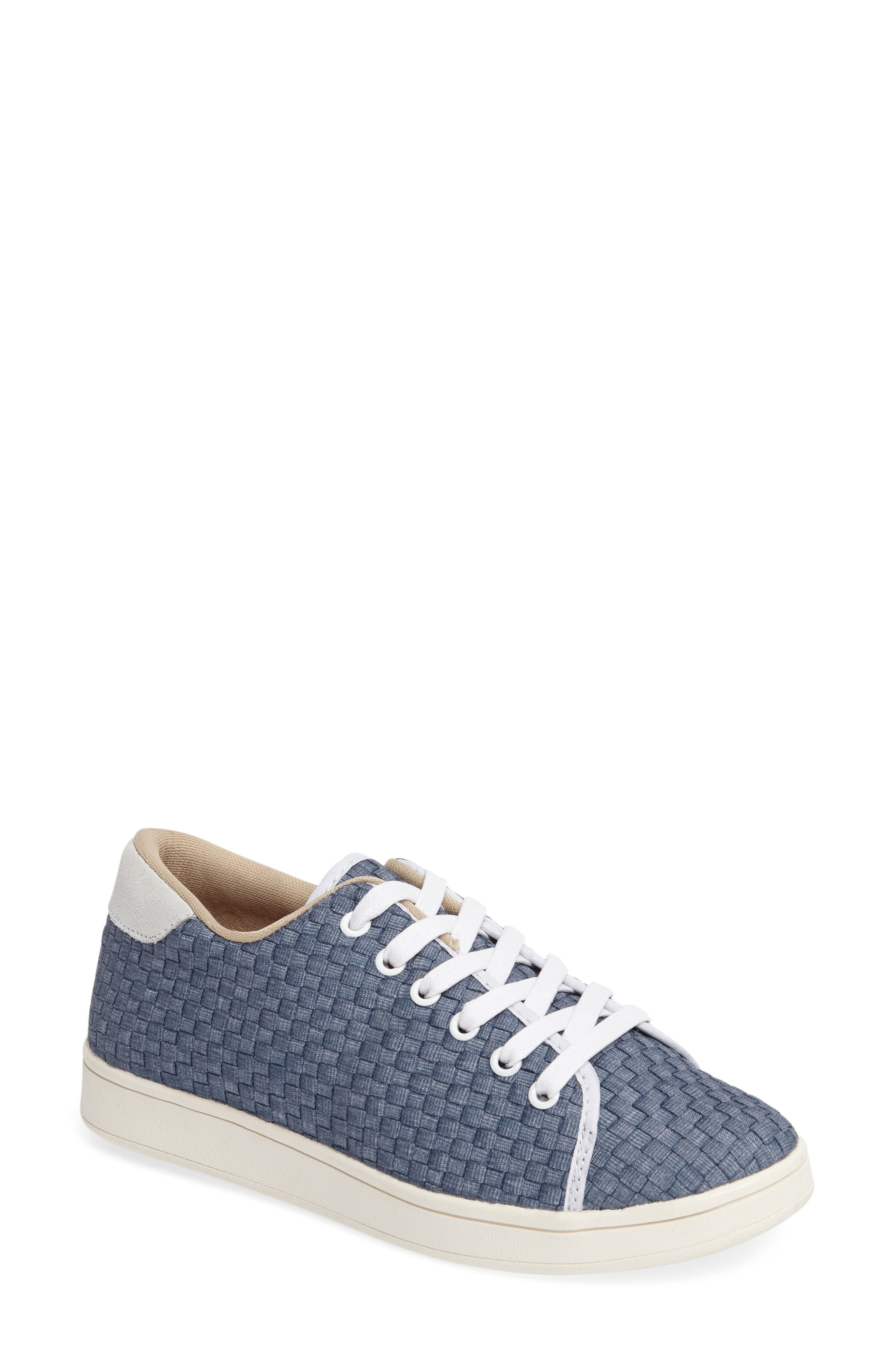 Daphne Sneaker,                         Main,                         color, Light Jeans Fabric