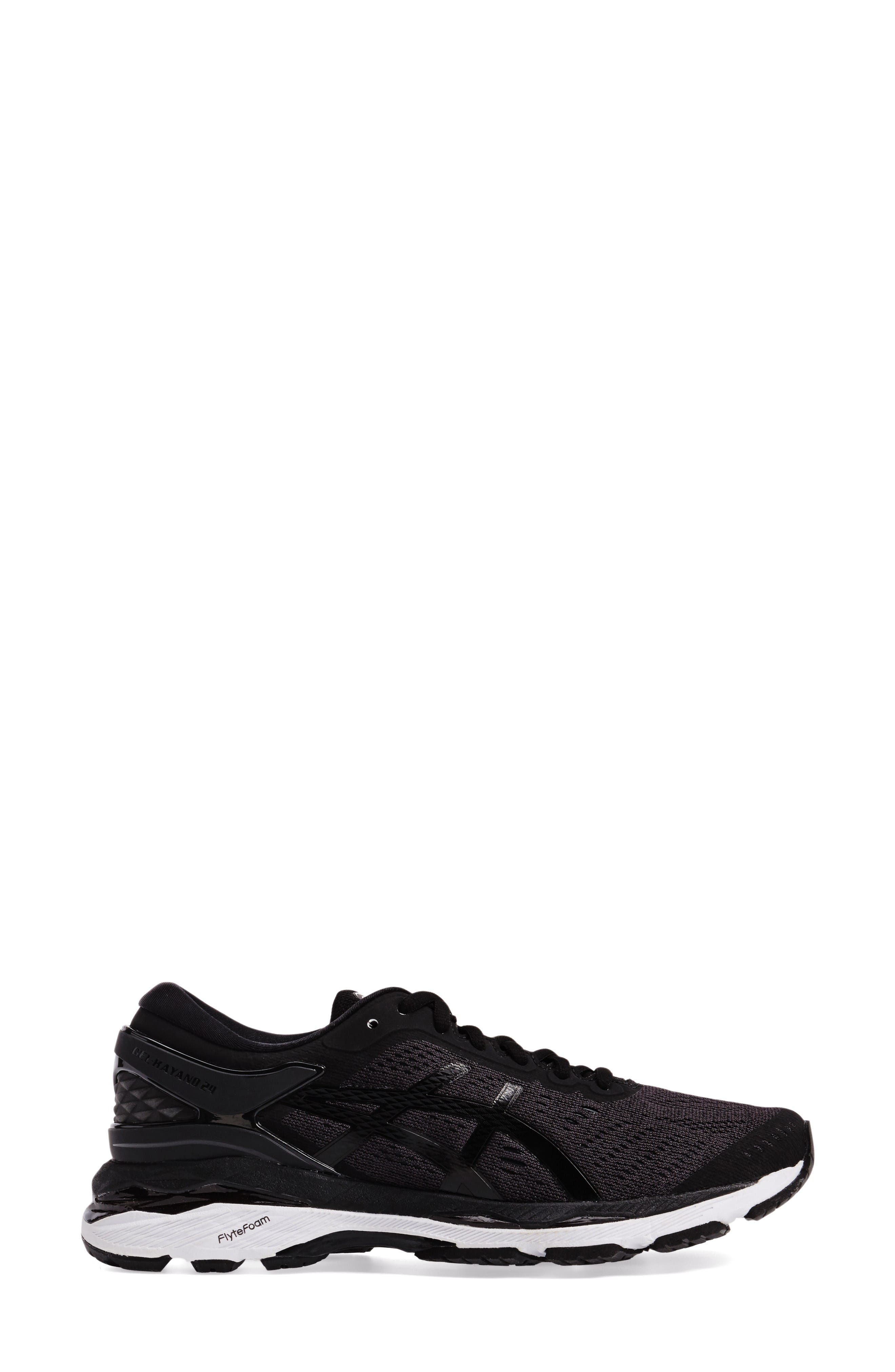 GEL-Kayano<sup>®</sup> 24 Running Shoe,                             Alternate thumbnail 3, color,                             Black/ Phantom/ White