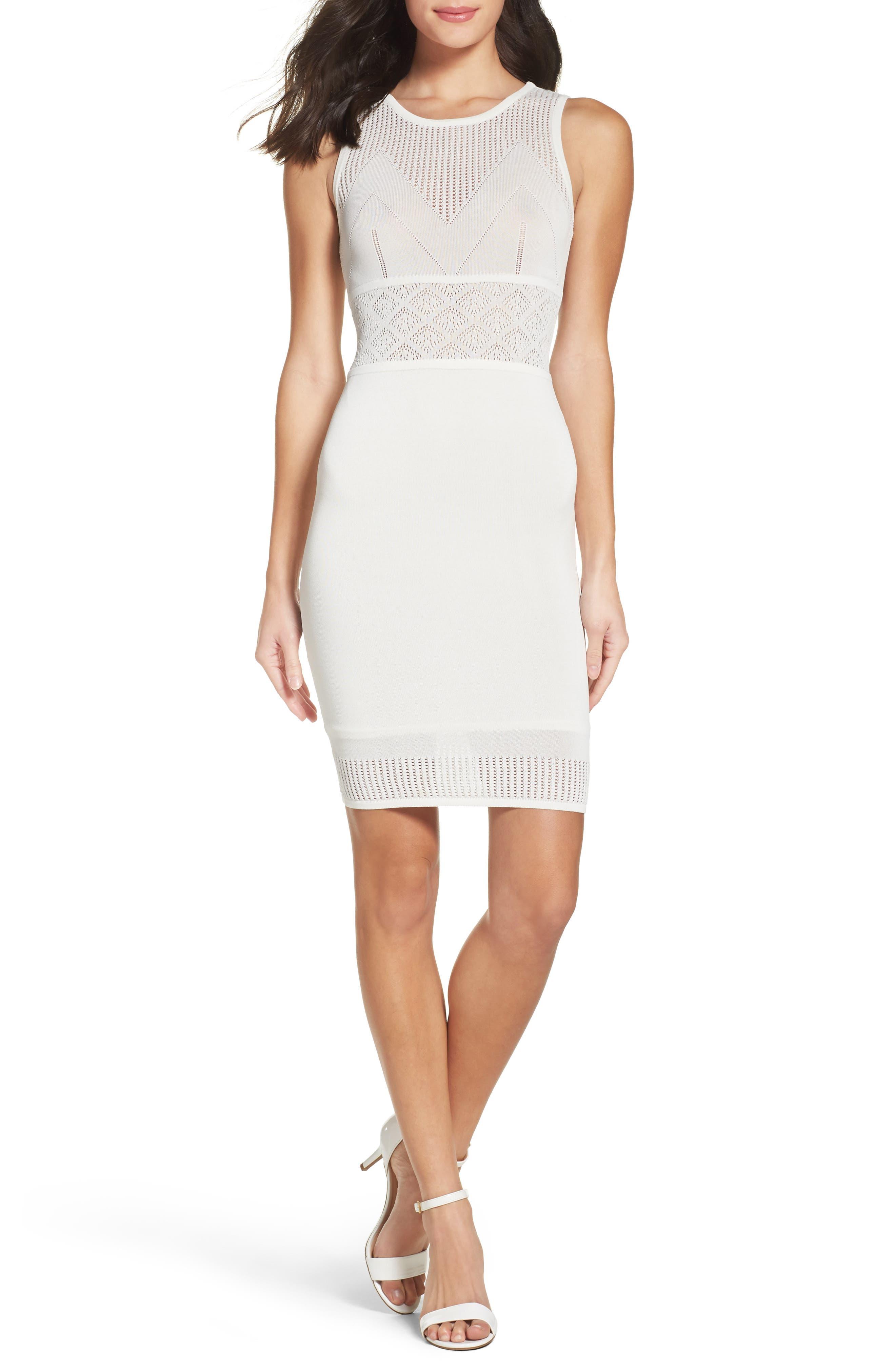 Pool Pavilion Body-Con Dress,                         Main,                         color, White