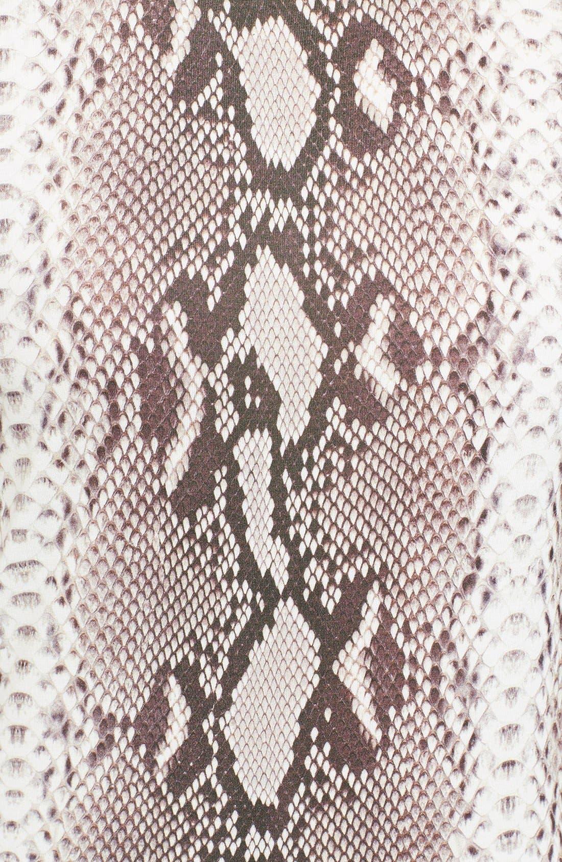 Alternate Image 3  - Carven Snakeskin Print Jersey T-Shirt Dress