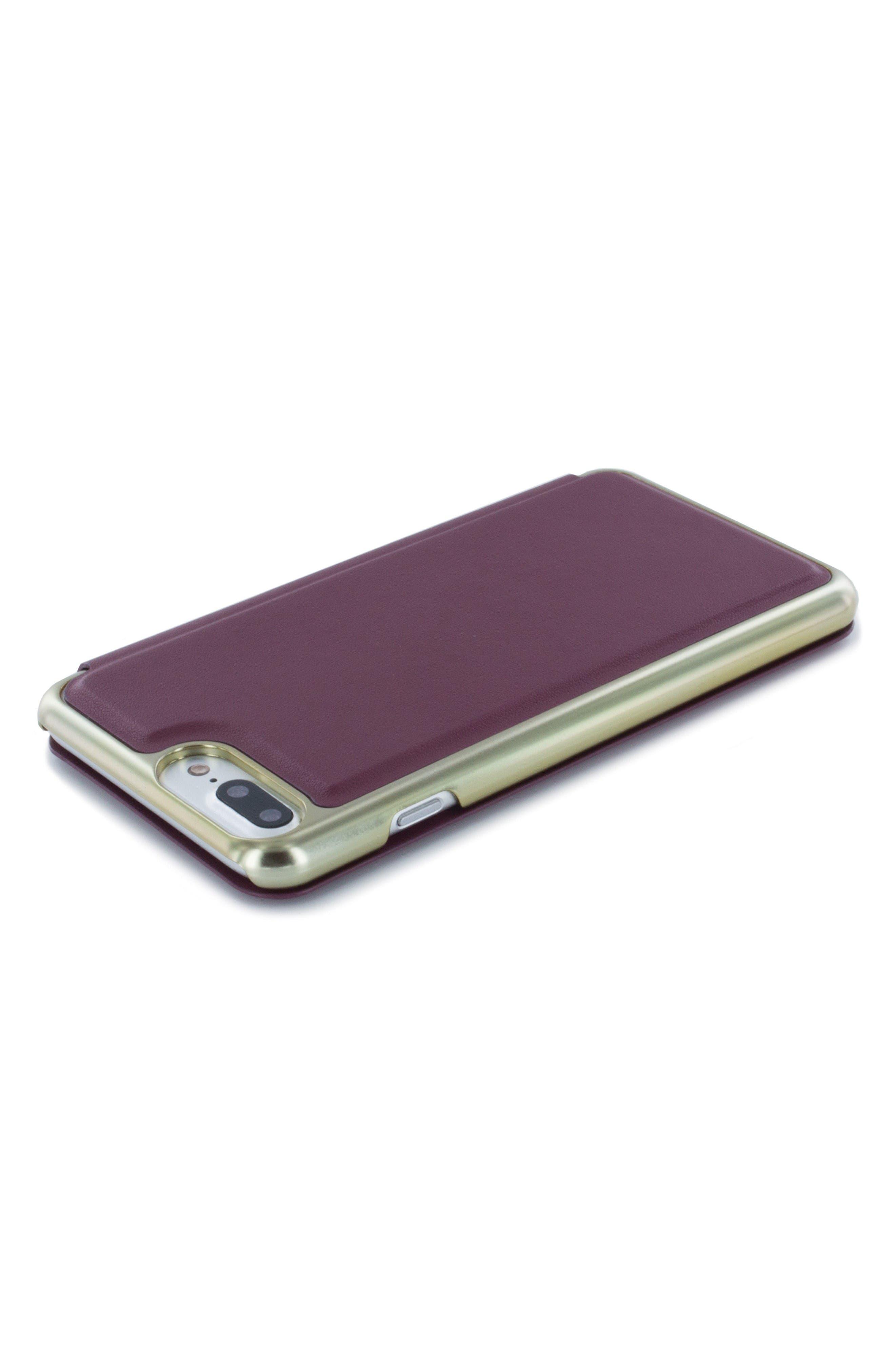 Shannon iPhone 6/6s/7/8 Plus Mirror Folio Case,                             Alternate thumbnail 5, color,                             Red