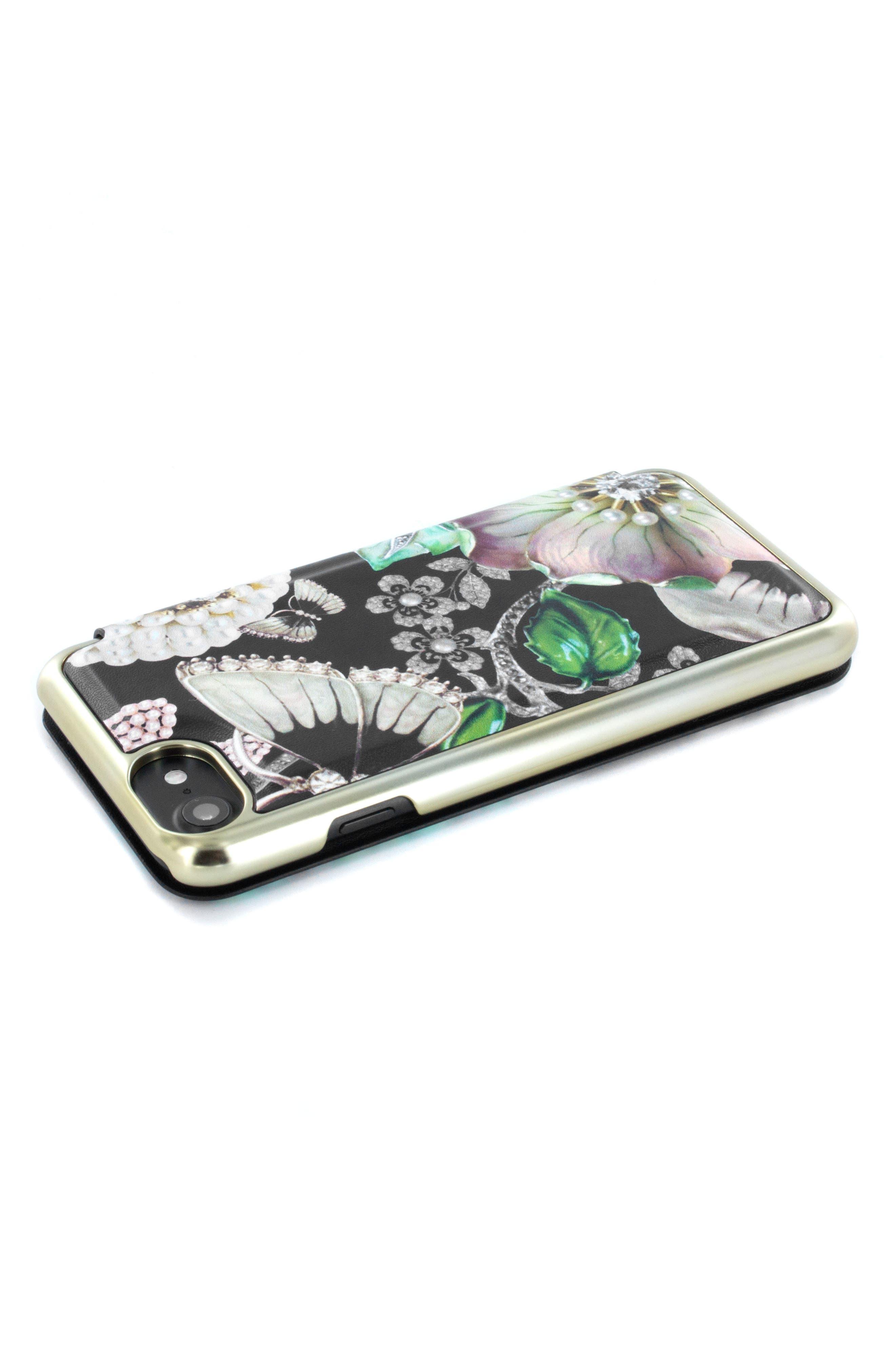 Clarna iPhone 6/6s/7/8 & 6/6s/7/8 Plus Mirror Folio Case,                             Alternate thumbnail 3, color,                             Multi