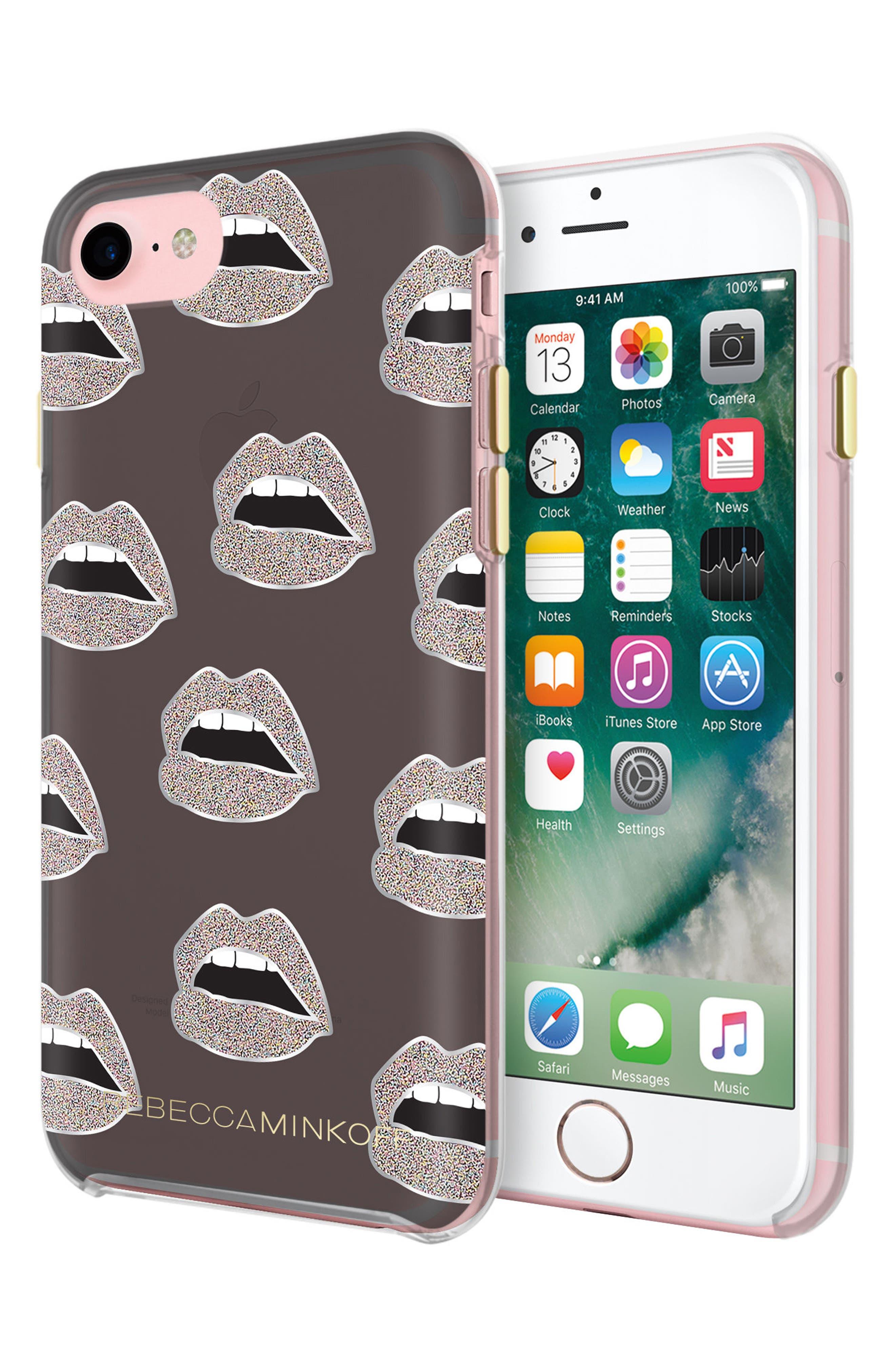 REBECCA MINKOFF Grey Lips iPhone 7 Case