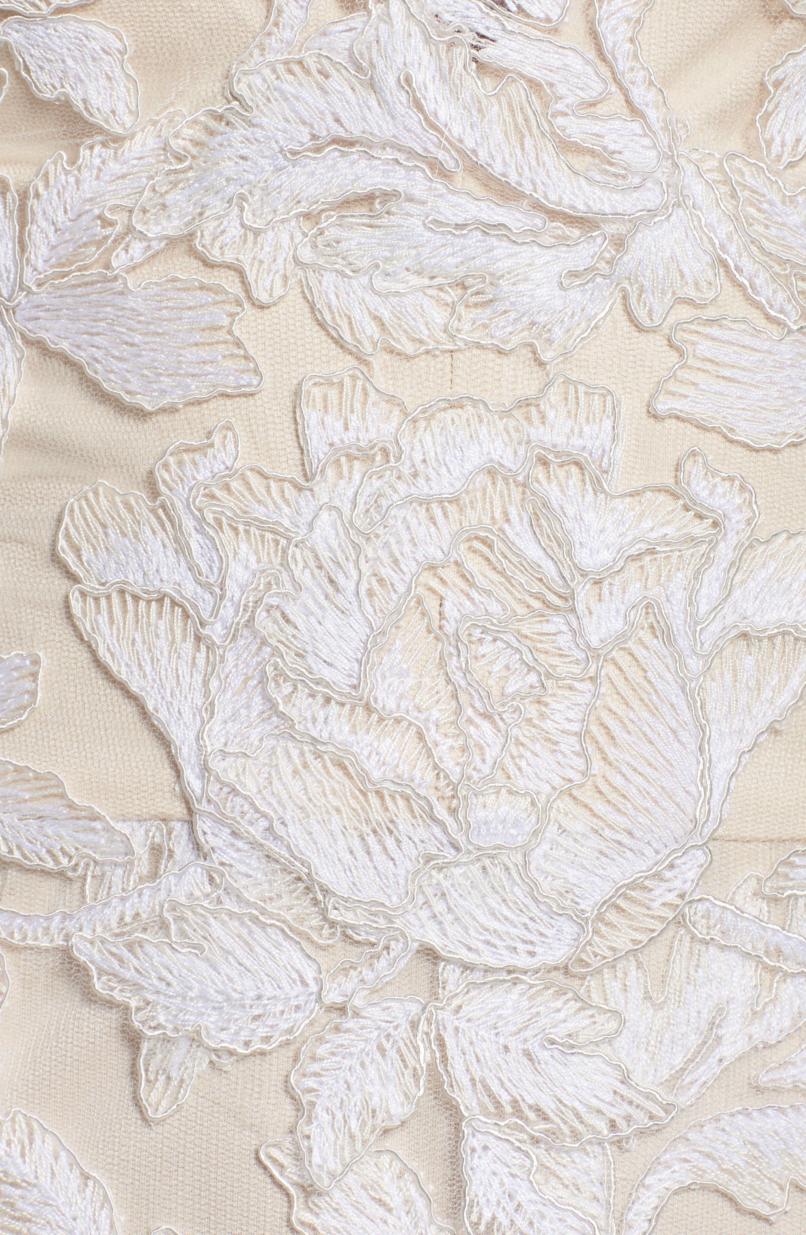 A-Line Lace Gown,                             Alternate thumbnail 5, color,                             Ivory/ Petal