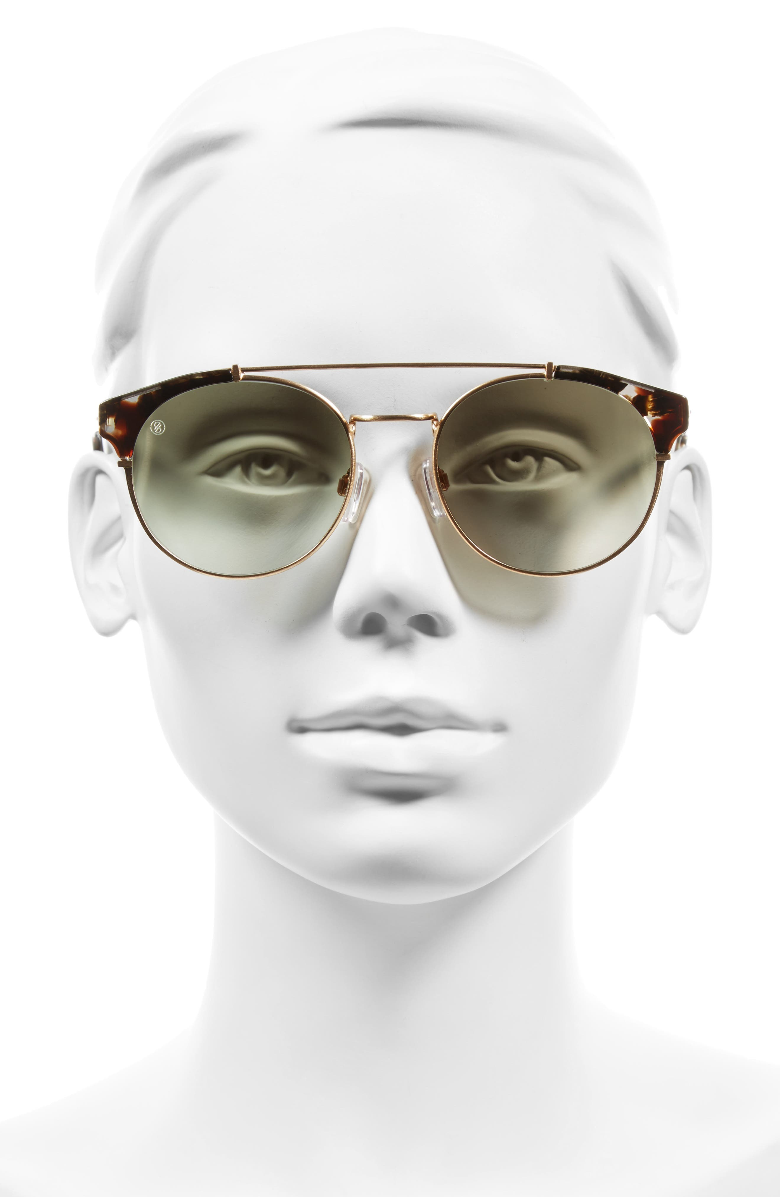 Alternate Image 2  - D'BLANC x Amuse Society Dosed Marquis 52mm Gradient Round Aviator Sunglasses