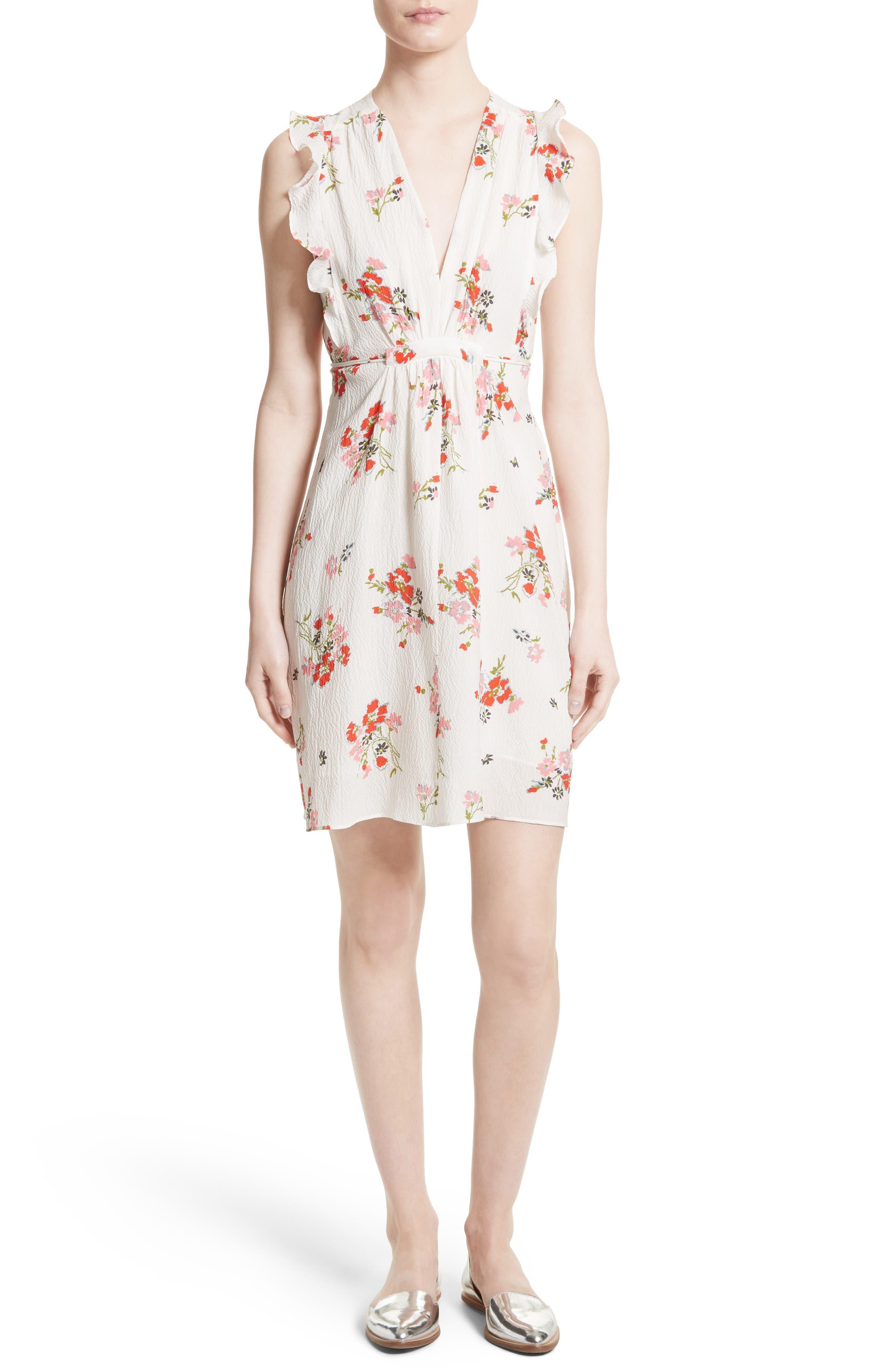 Rebecca Taylor Marguerite Floral Stretch Silk Dress