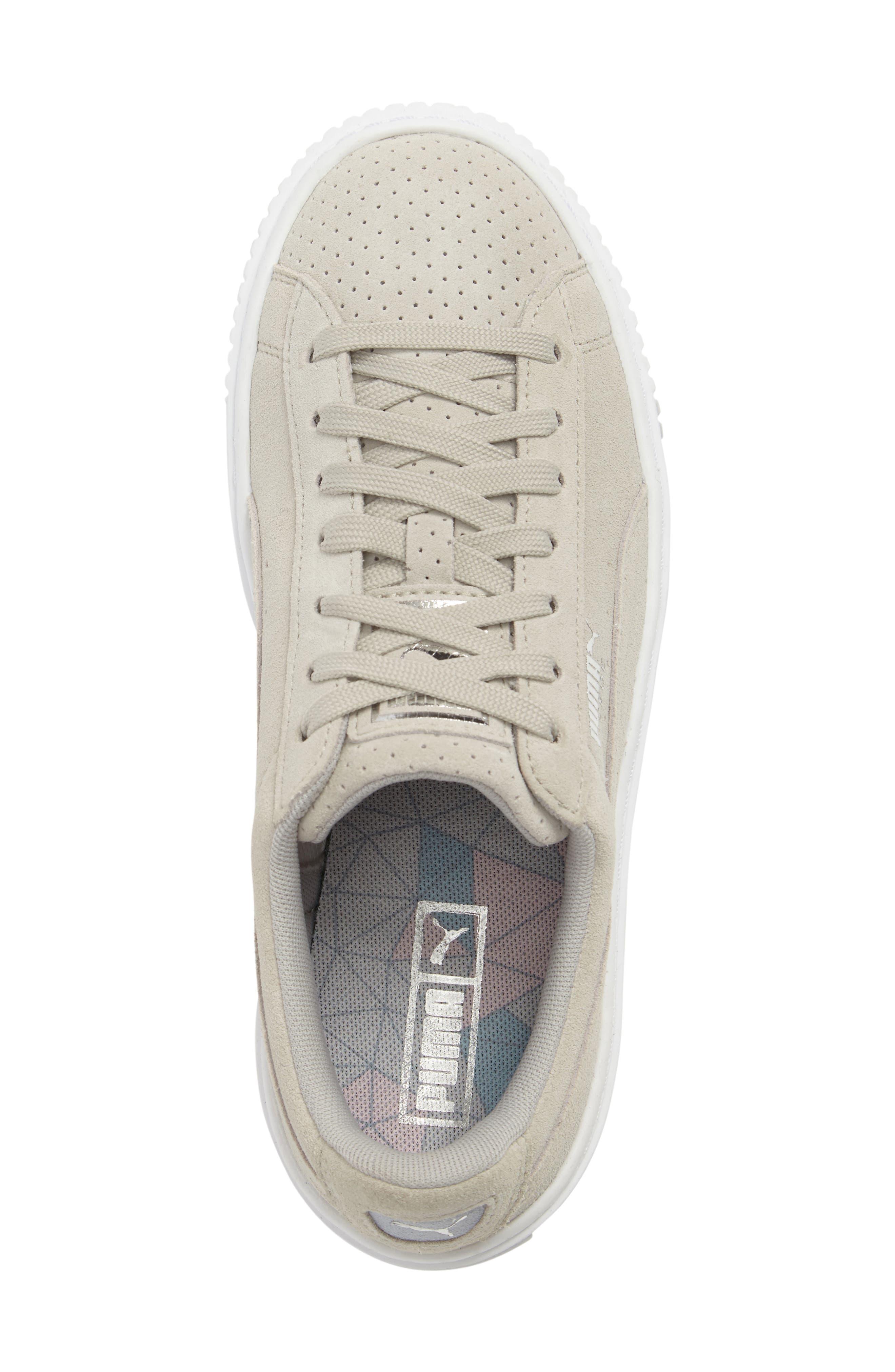 Basket Platform Sneaker,                             Alternate thumbnail 6, color,                             Grey Violet/ Silver