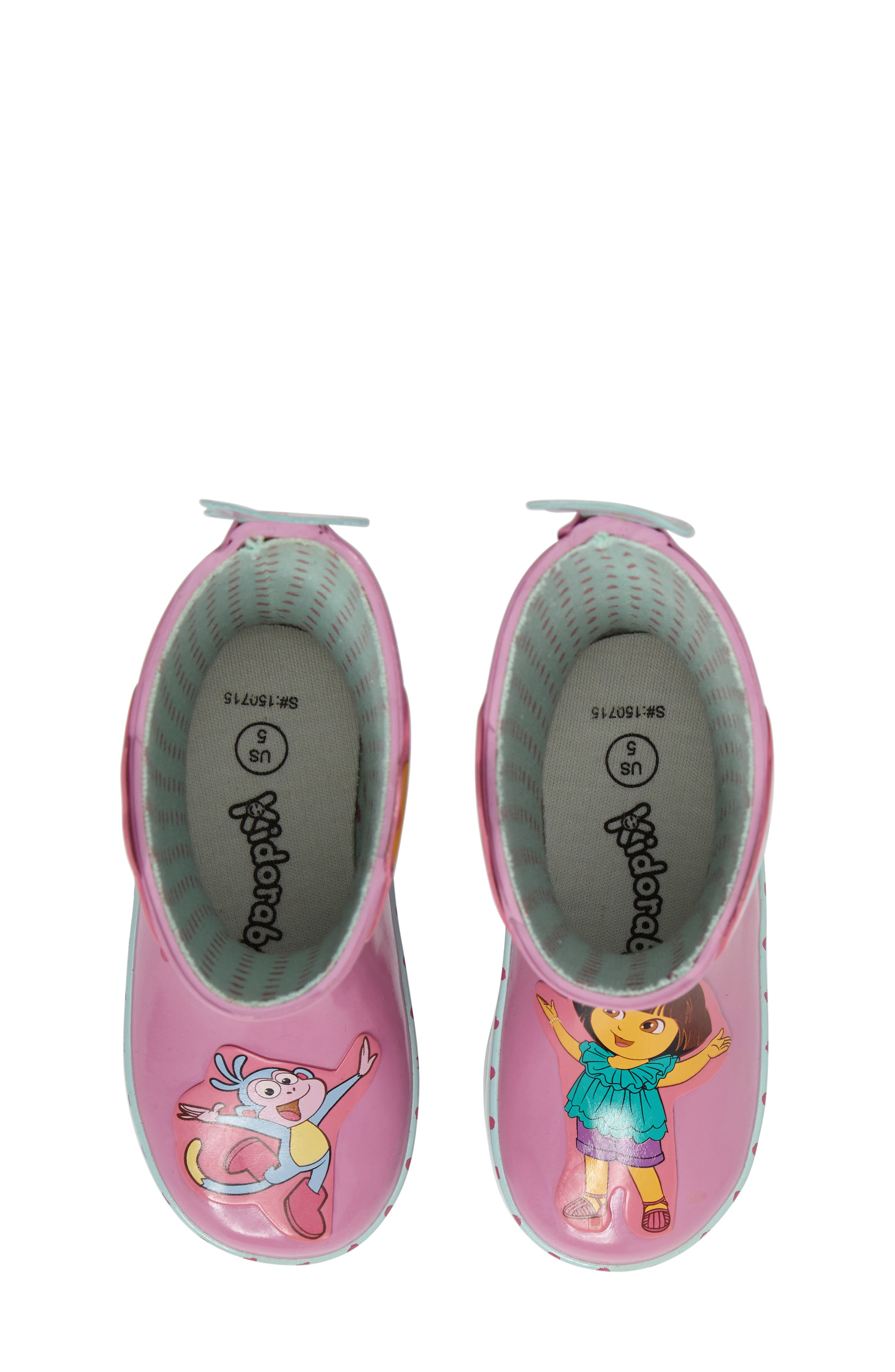 Alternate Image 5  - Kidorable Dora the Explorer Rain Boot (Walker, Toddler & Little Kid)