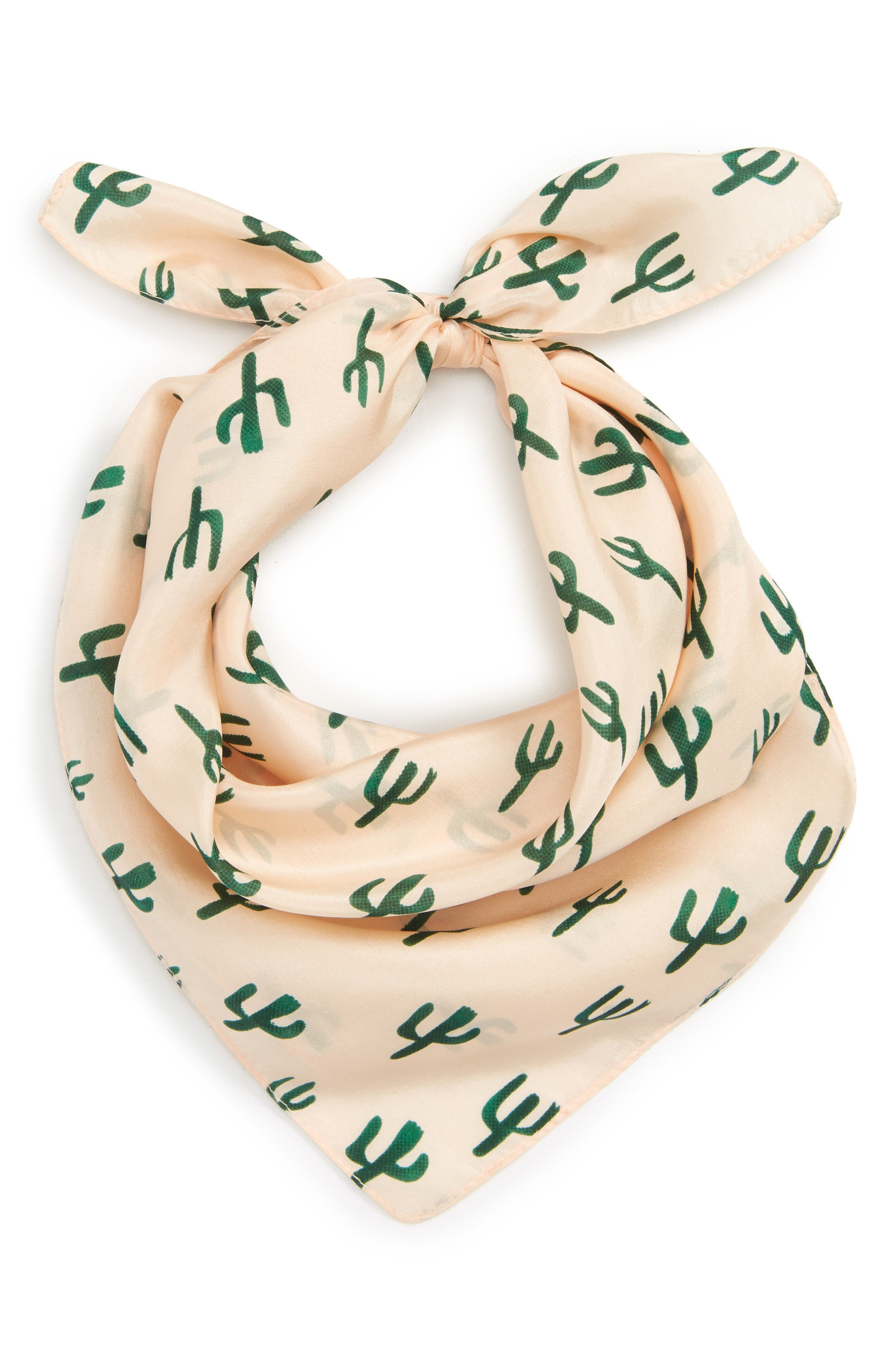 Alternate Image 1 Selected - Sole Society Cactus Silk Scarf