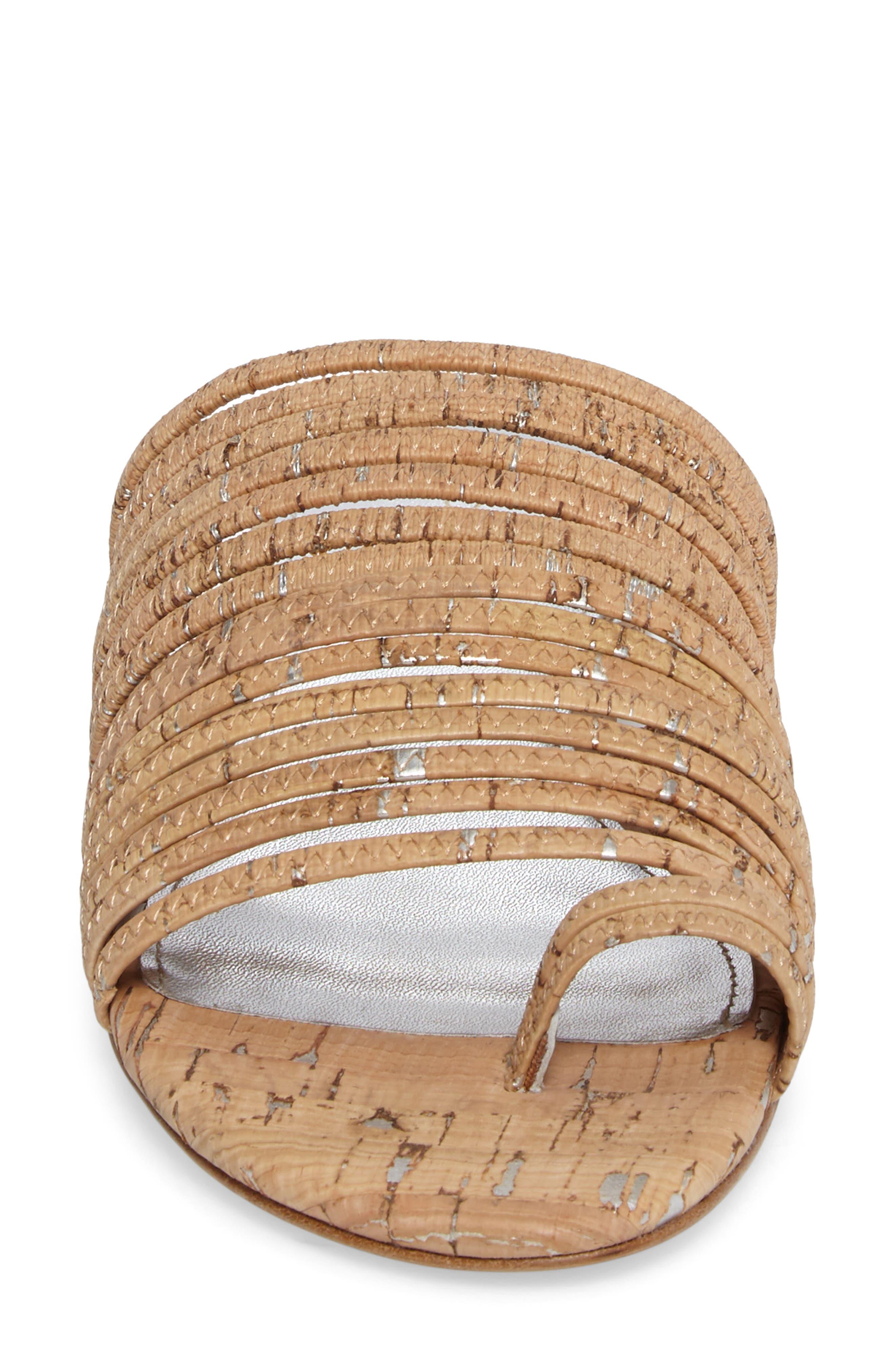 Frea Strappy Sandal,                             Alternate thumbnail 4, color,                             Natural Cork