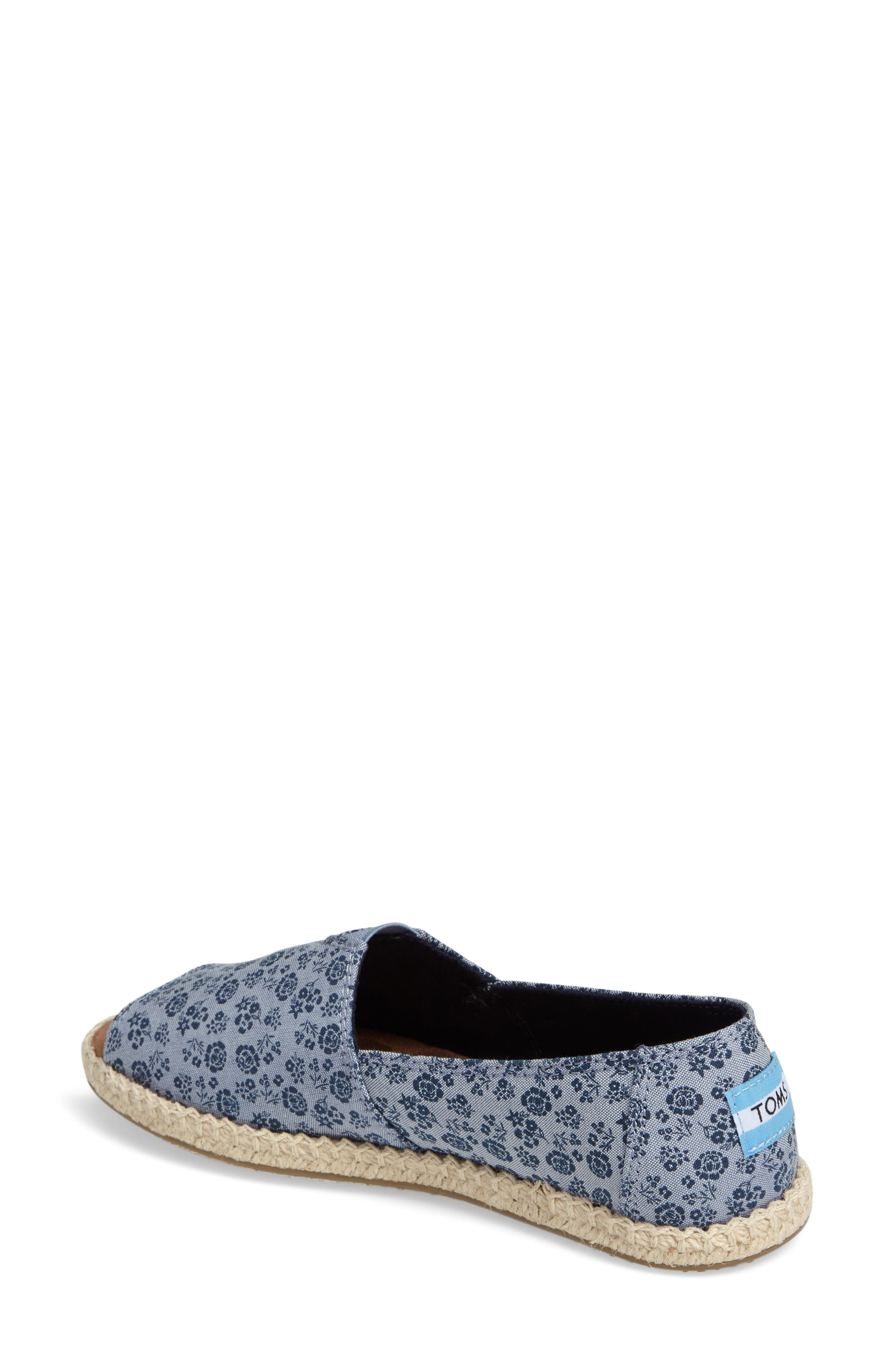Alternate Image 2  - TOMS Open Toe Espadrille Slip-On (Women)