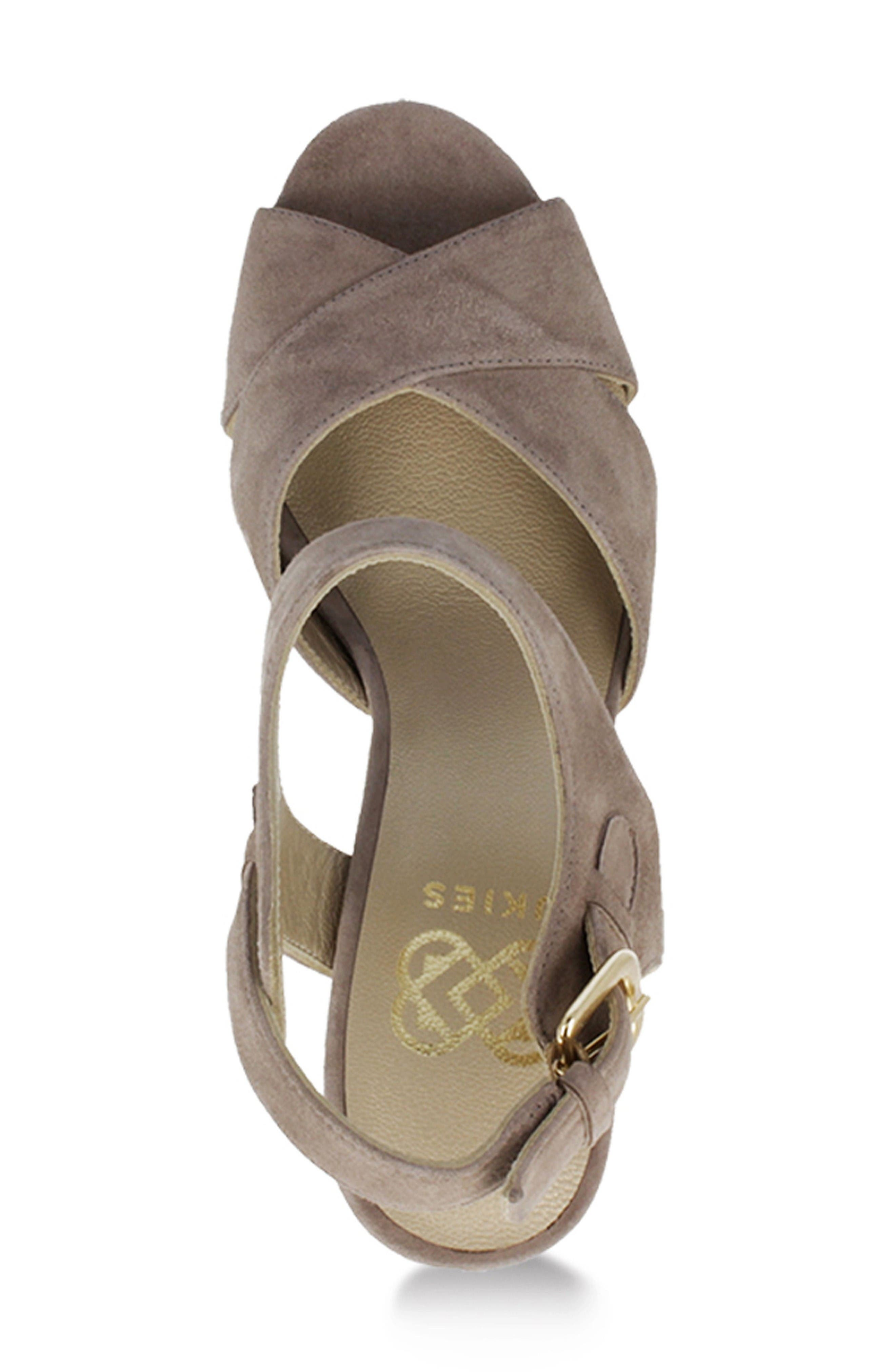 Tango Sandal,                             Alternate thumbnail 3, color,                             Taupe Suede