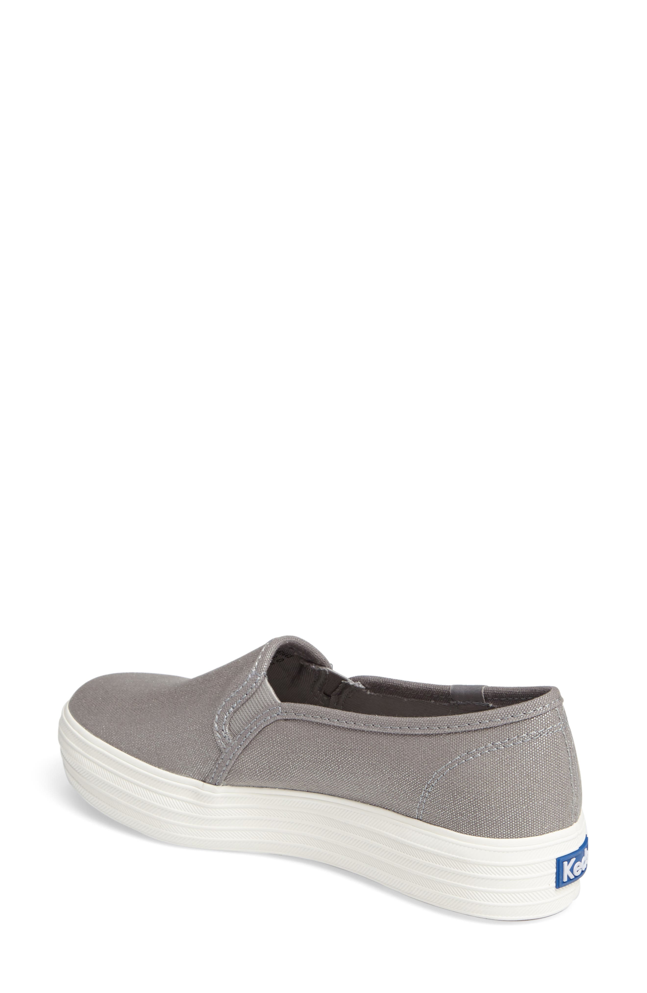 Triple Decker Slip-On Platform Sneaker,                             Alternate thumbnail 2, color,                             Silver