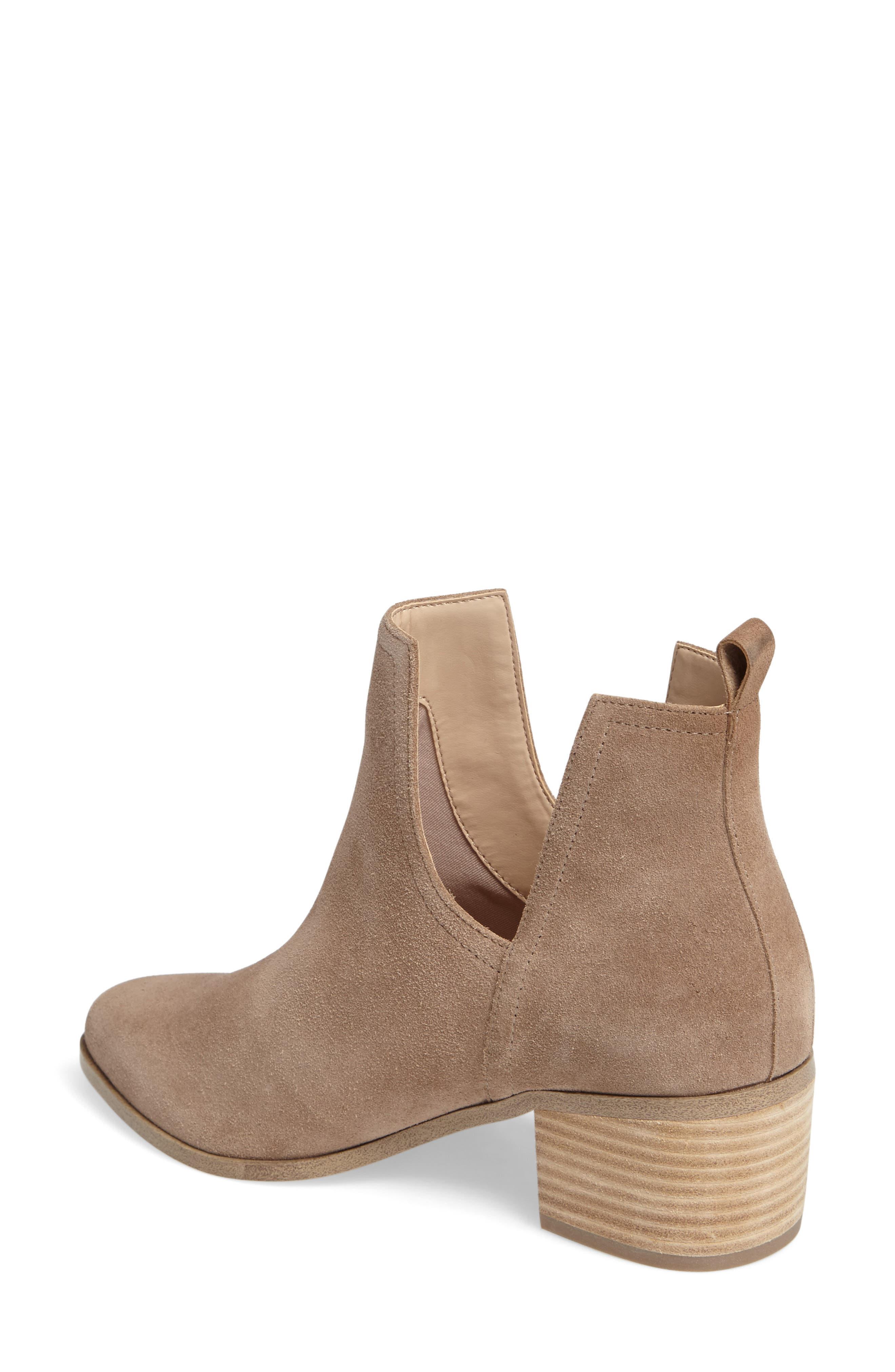 Madrid Bootie,                             Alternate thumbnail 2, color,                             Sand Suede