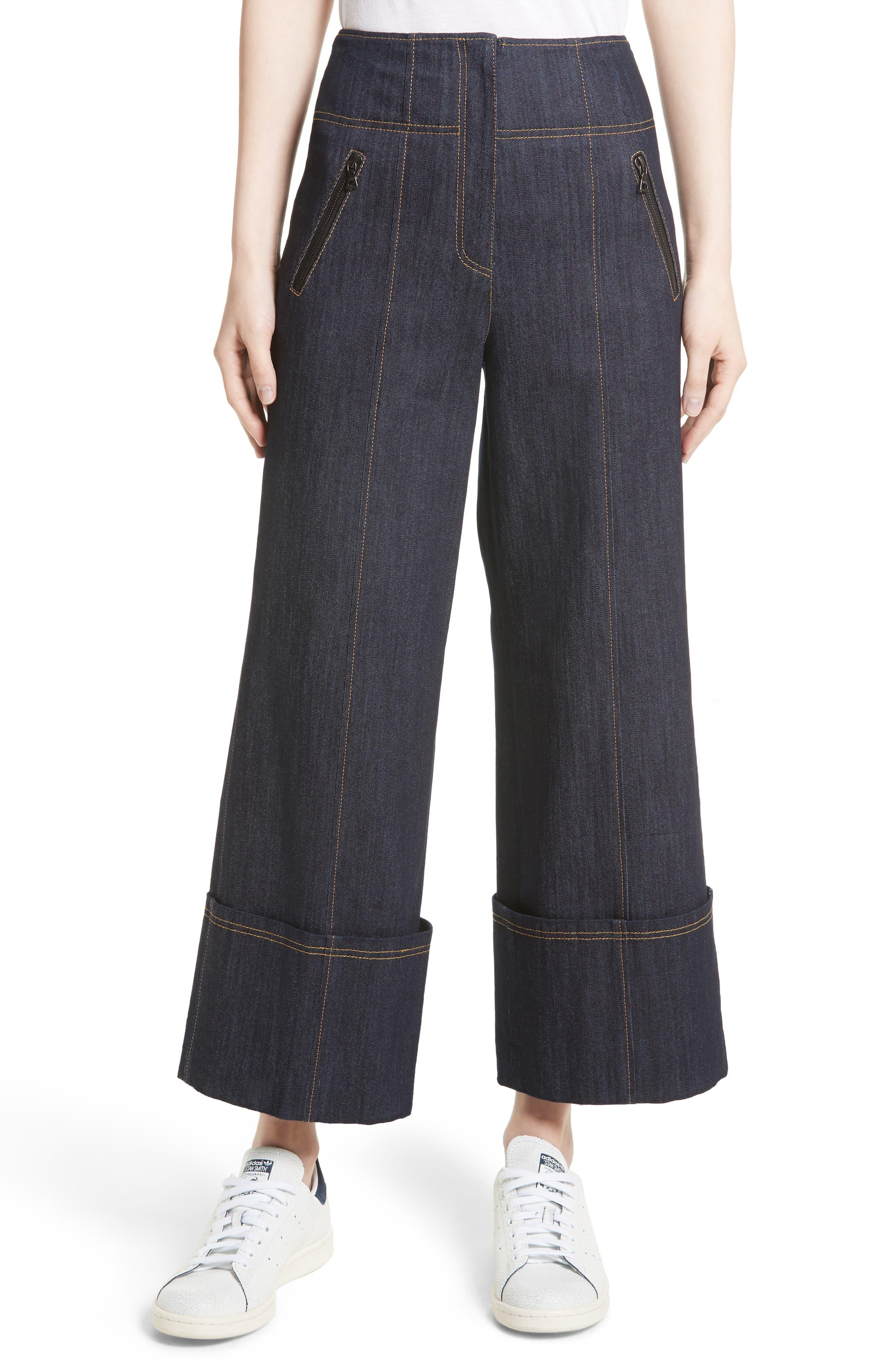 Marla Cuff Jeans,                         Main,                         color, Indigo