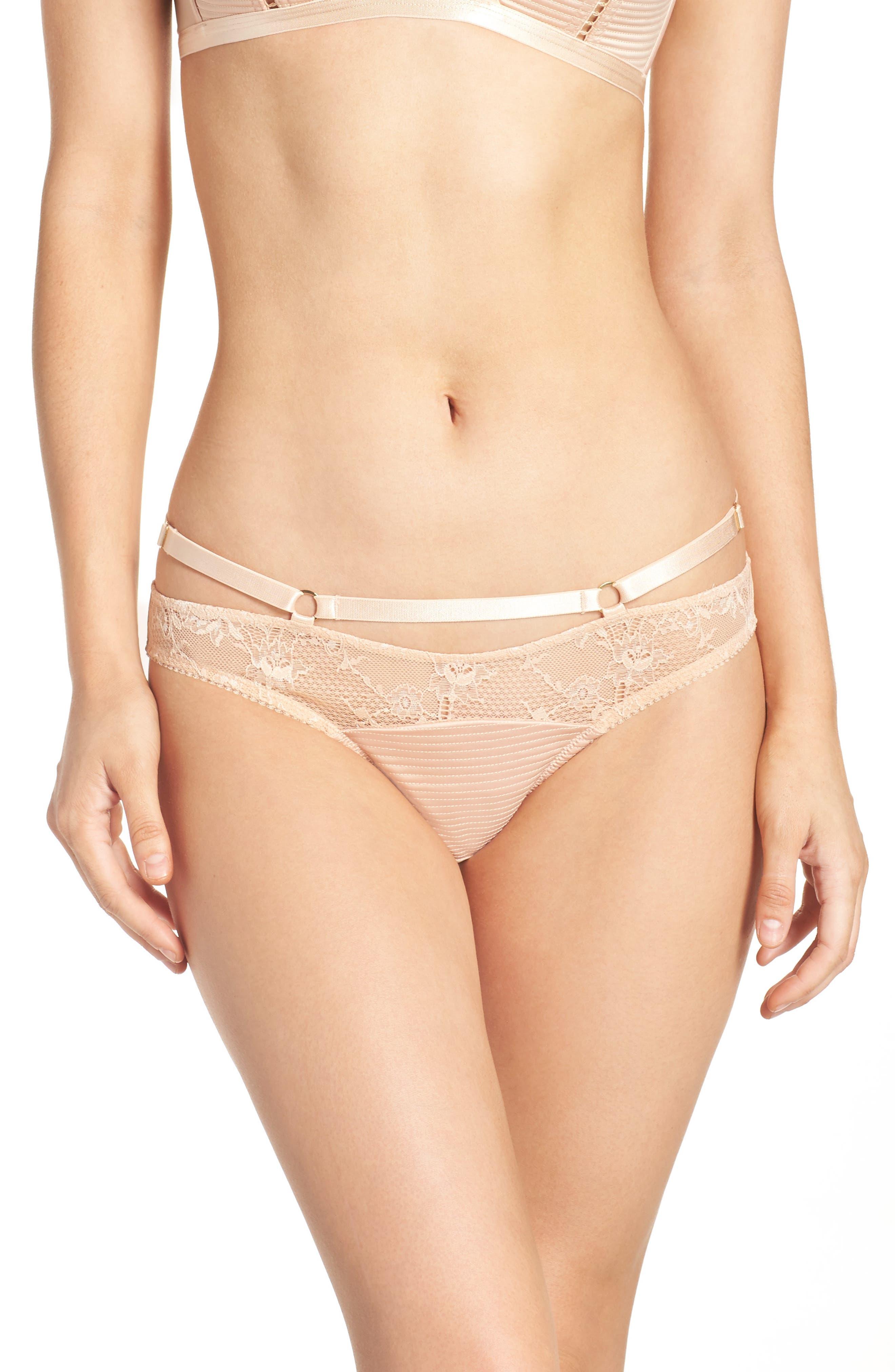 Lace Bikini,                         Main,                         color, Creme Caramel