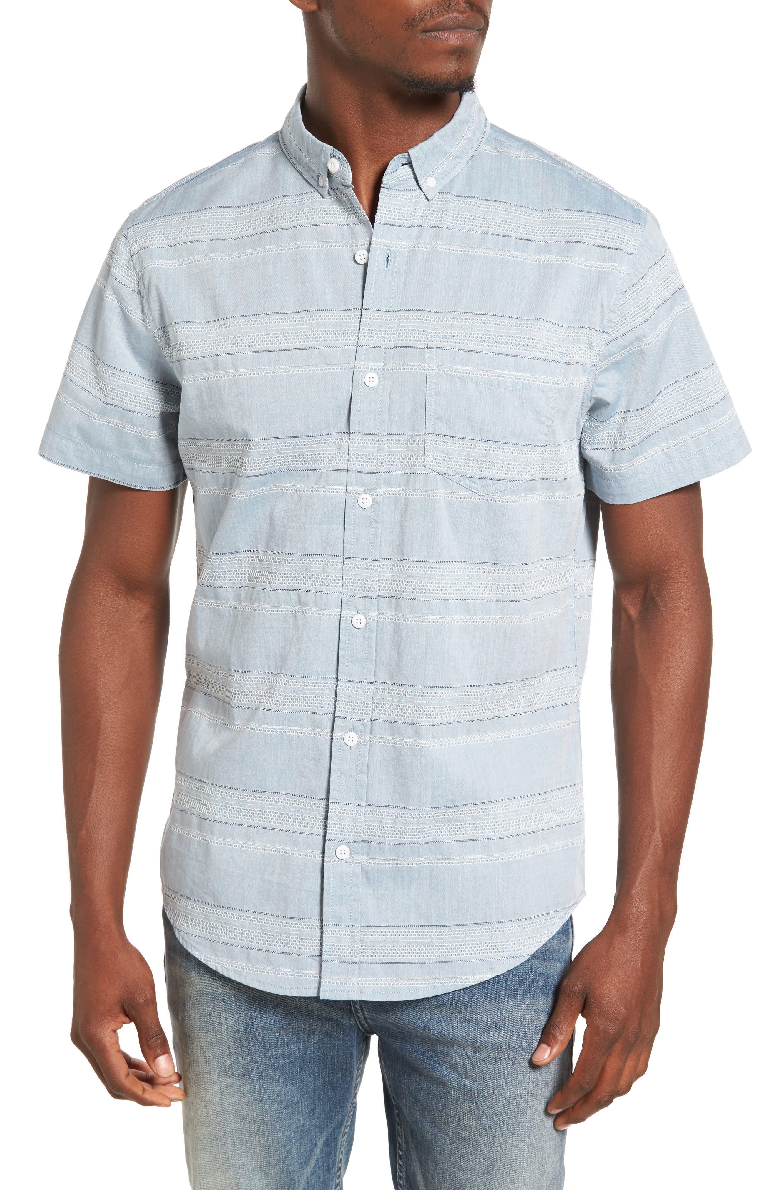 Alternate Image 1 Selected - 1901 Jacquard Trim Fit Sport Shirt