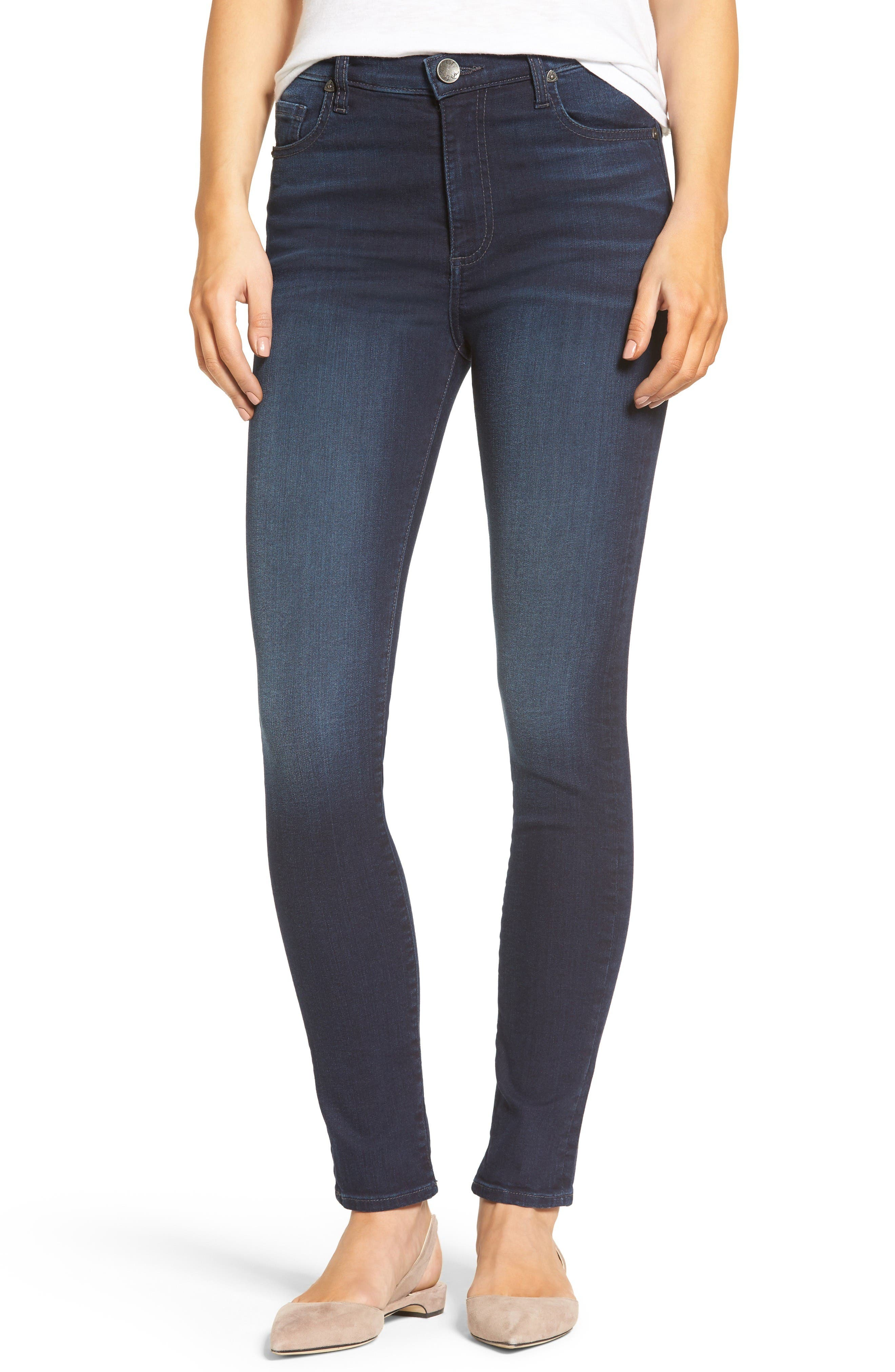 Alternate Image 1 Selected - KUT from the Kloth Mia High Waist Skinny Jeans (Regular & Petite) (Pacable)